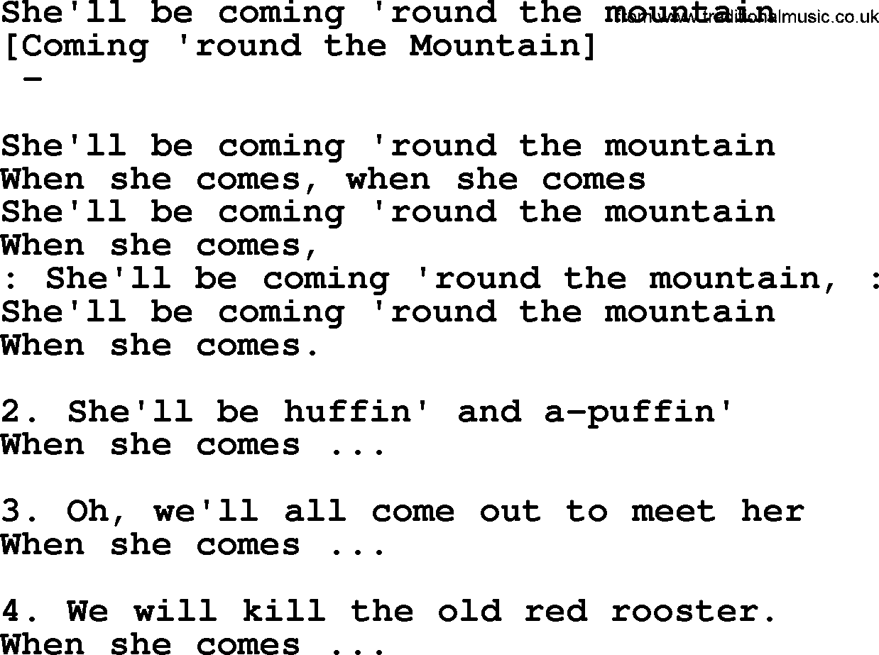 She'll be coming round the mountain - Kids Songs ...