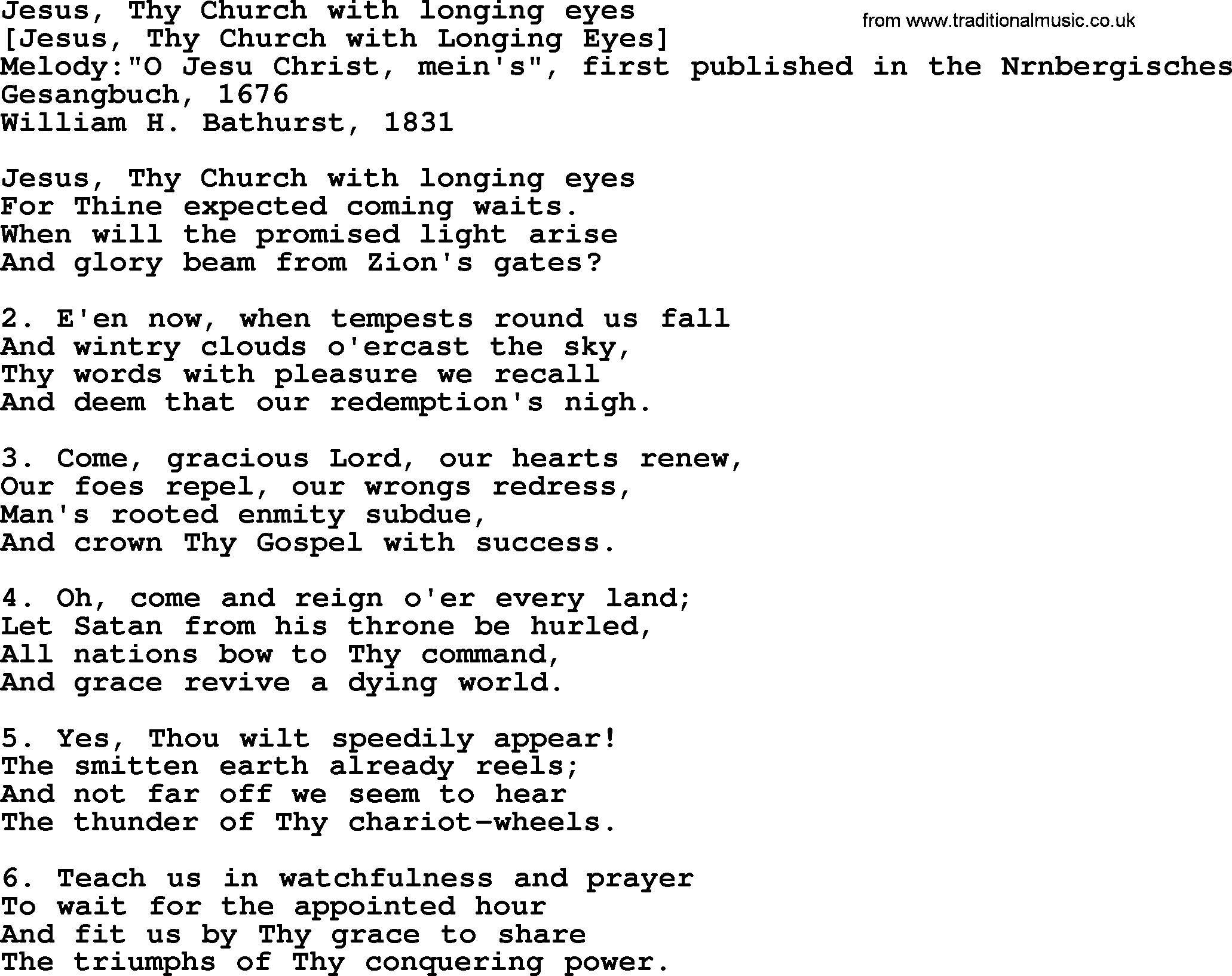 Jesus christ songs in english