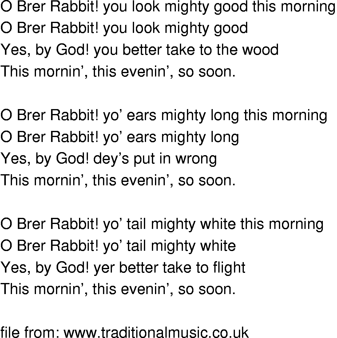 History of Brer Rabbit Related The History of Brer
