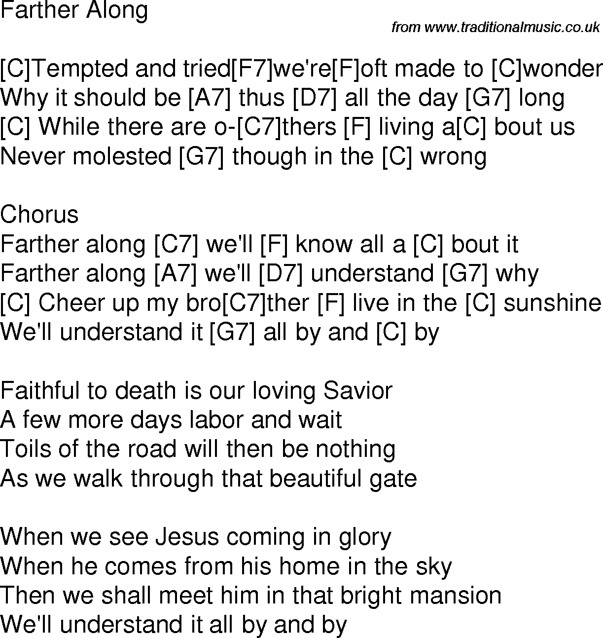 Old time song lyrics with guitar chords for farther along c old time song lyrics with chords for farther along c hexwebz Choice Image
