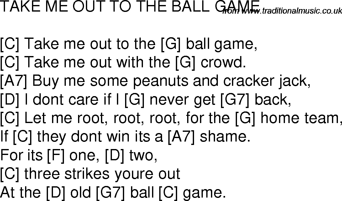songs played at ball games