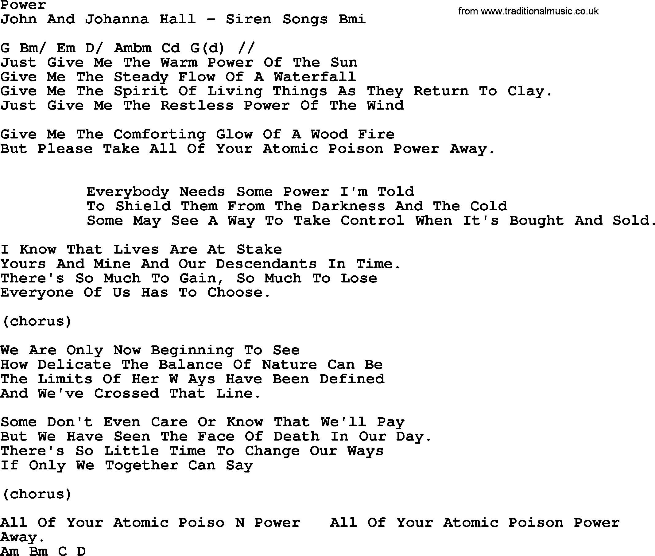 Peter paul and mary song power lyrics and chords peter paul and mary song power lyrics and chords hexwebz Gallery