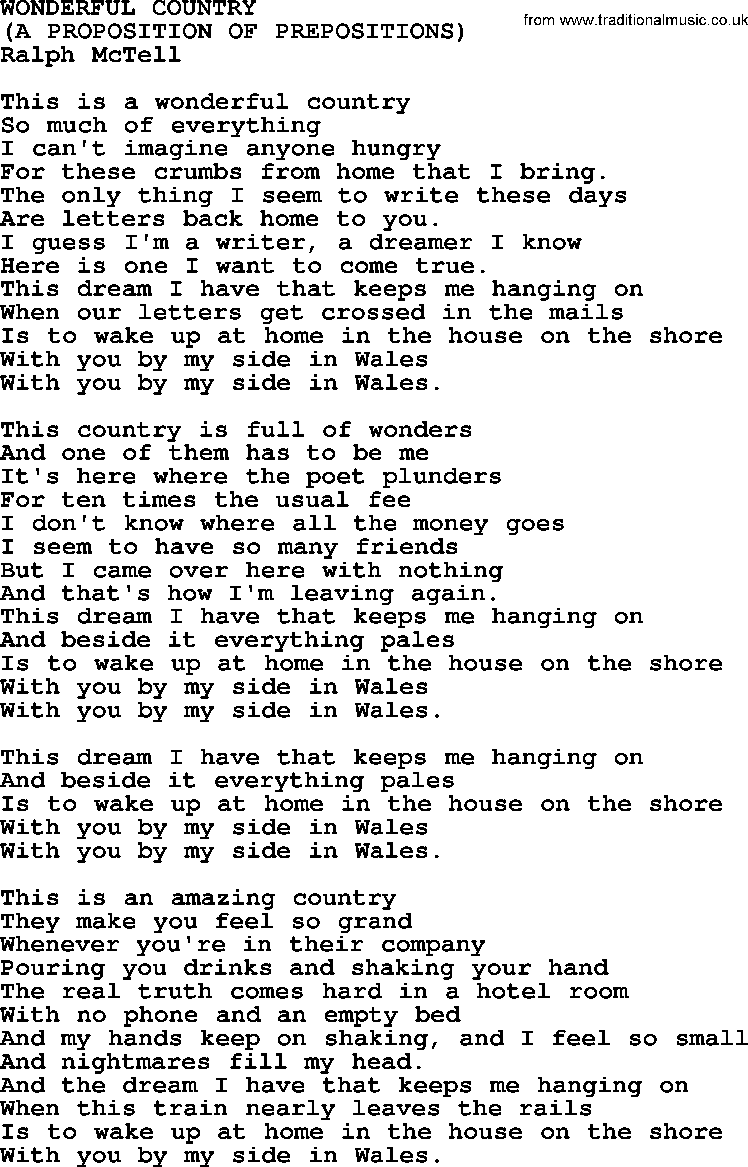 Country song titles
