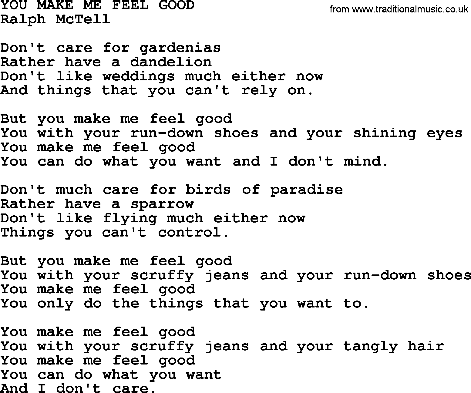 The things you do to me lyrics