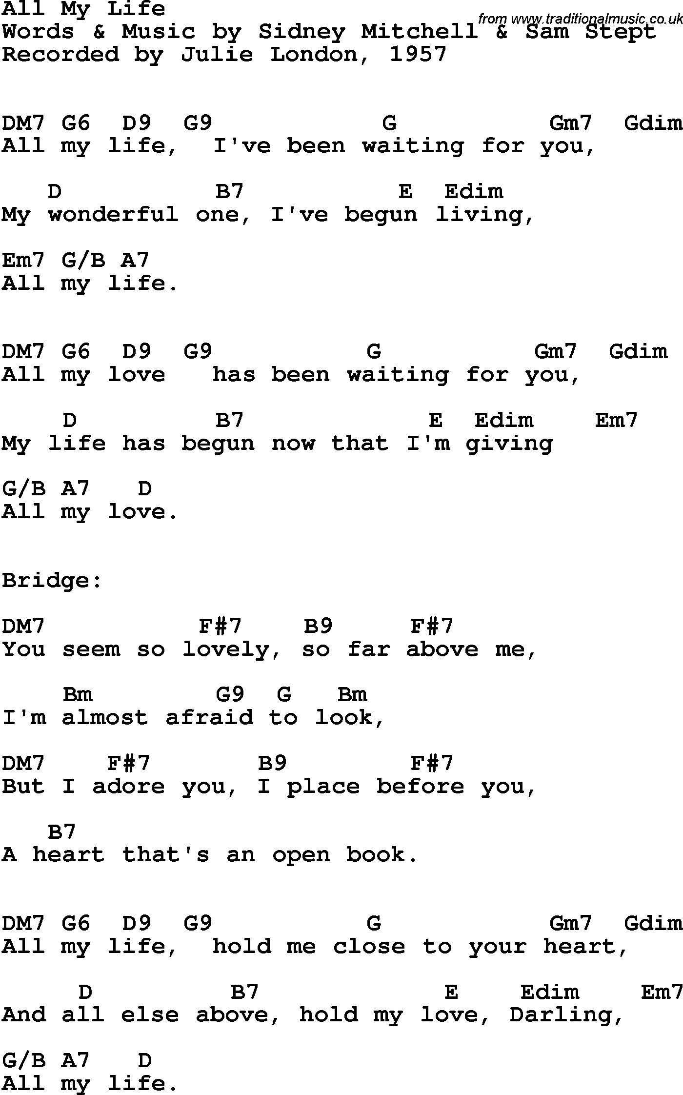 Book song open life is my