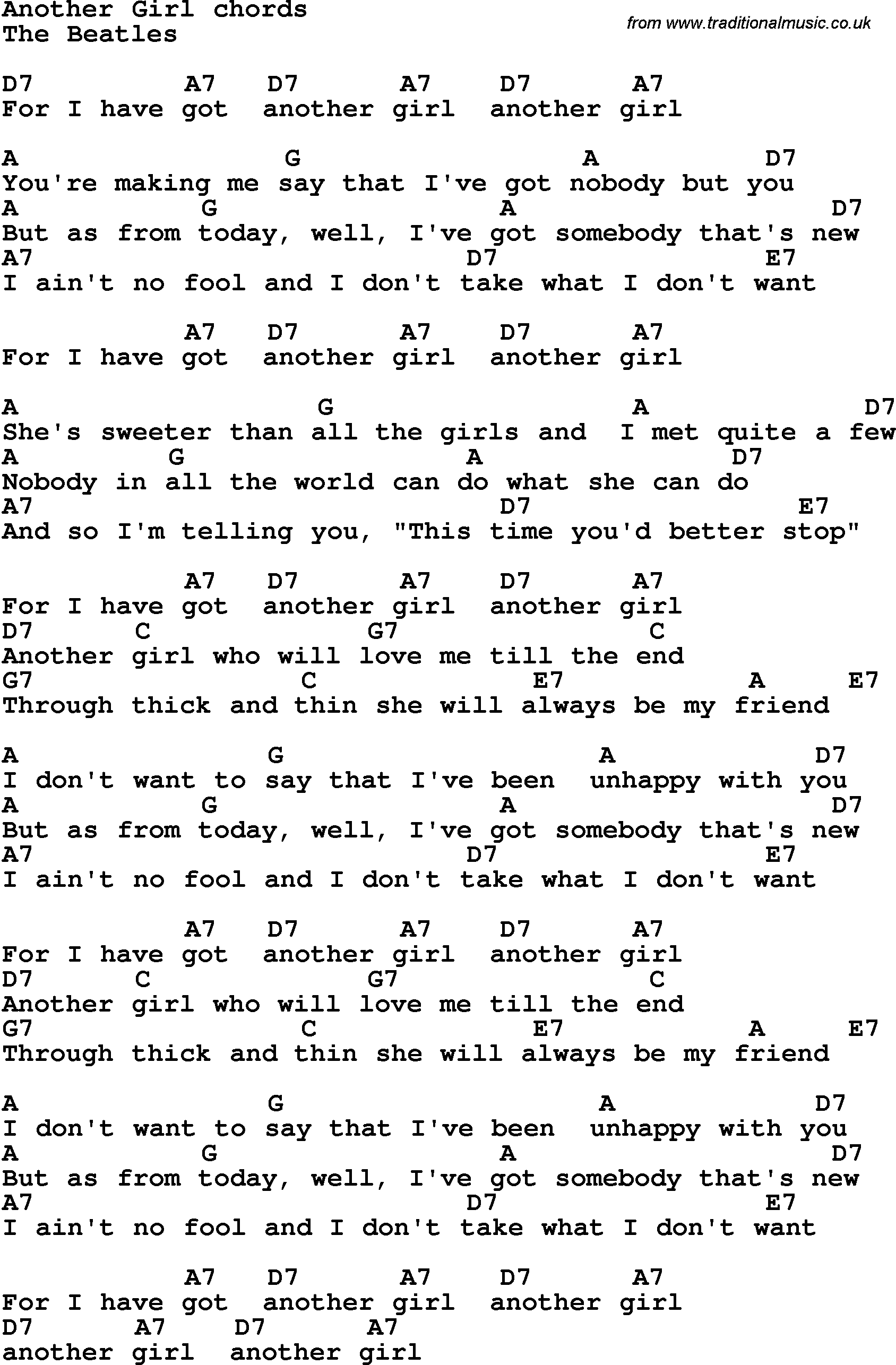 Songtext von The Beatles - Girl Lyrics