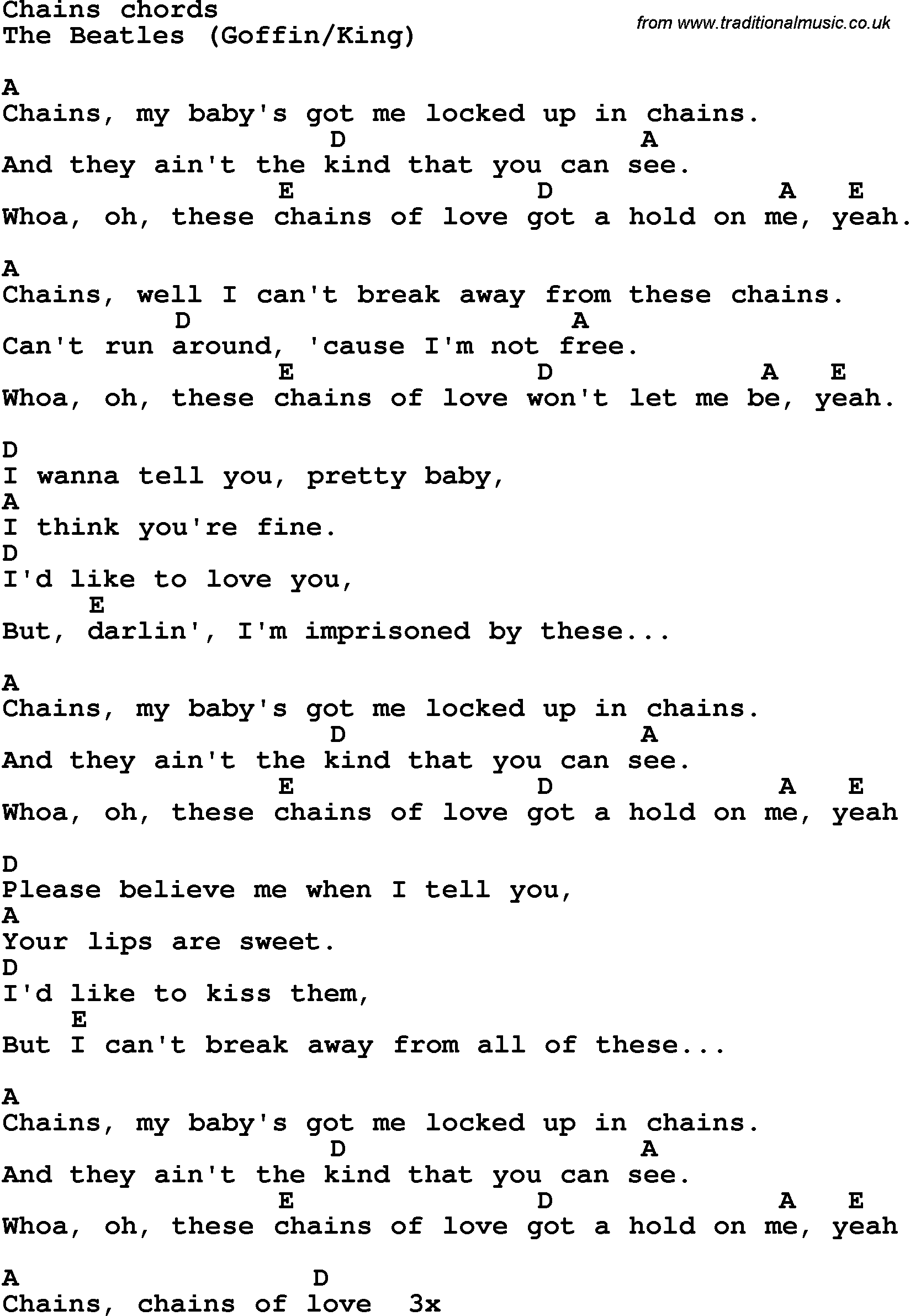 Song lyrics with guitar chords for chains the beatles song lyrics with guitar chords for chains the beatles hexwebz Images