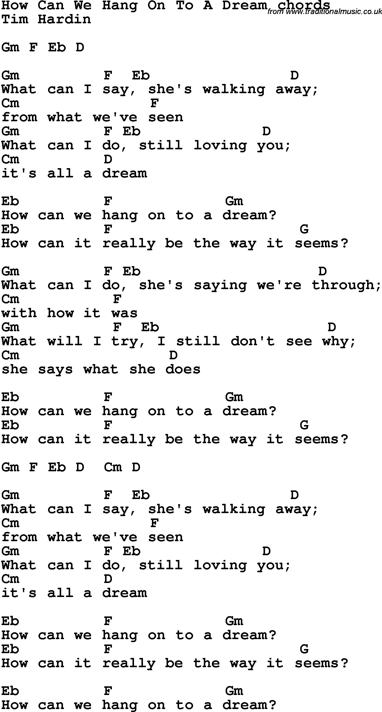 Song lyrics with guitar chords for hang on to a dream song lyrics with guitar chords for hang on to a dream hexwebz Images