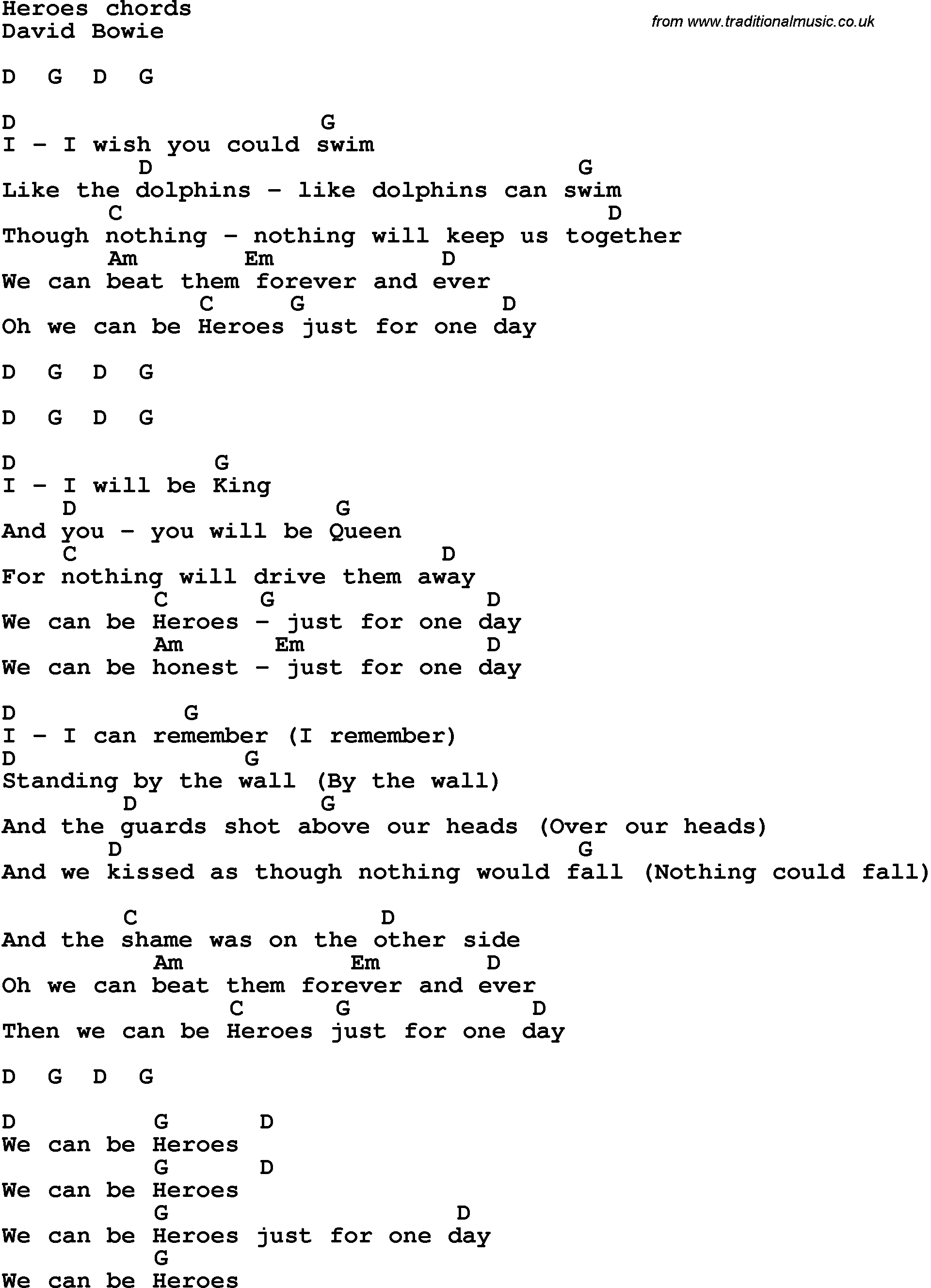 New Hero Song Lyrics With Guitar Chords