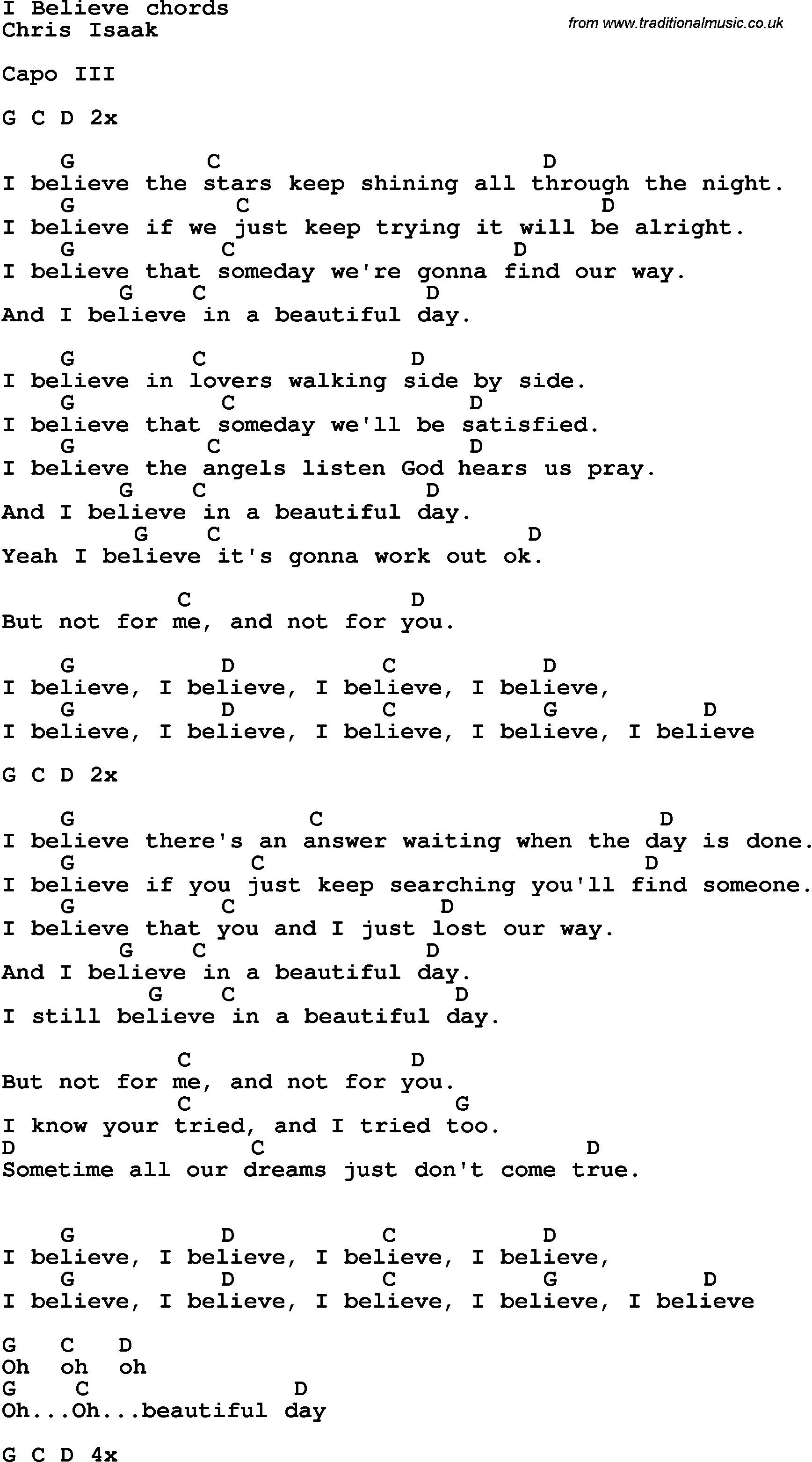 Song lyrics with guitar chords for i believe song lyrics with guitar chords for i believe hexwebz Images