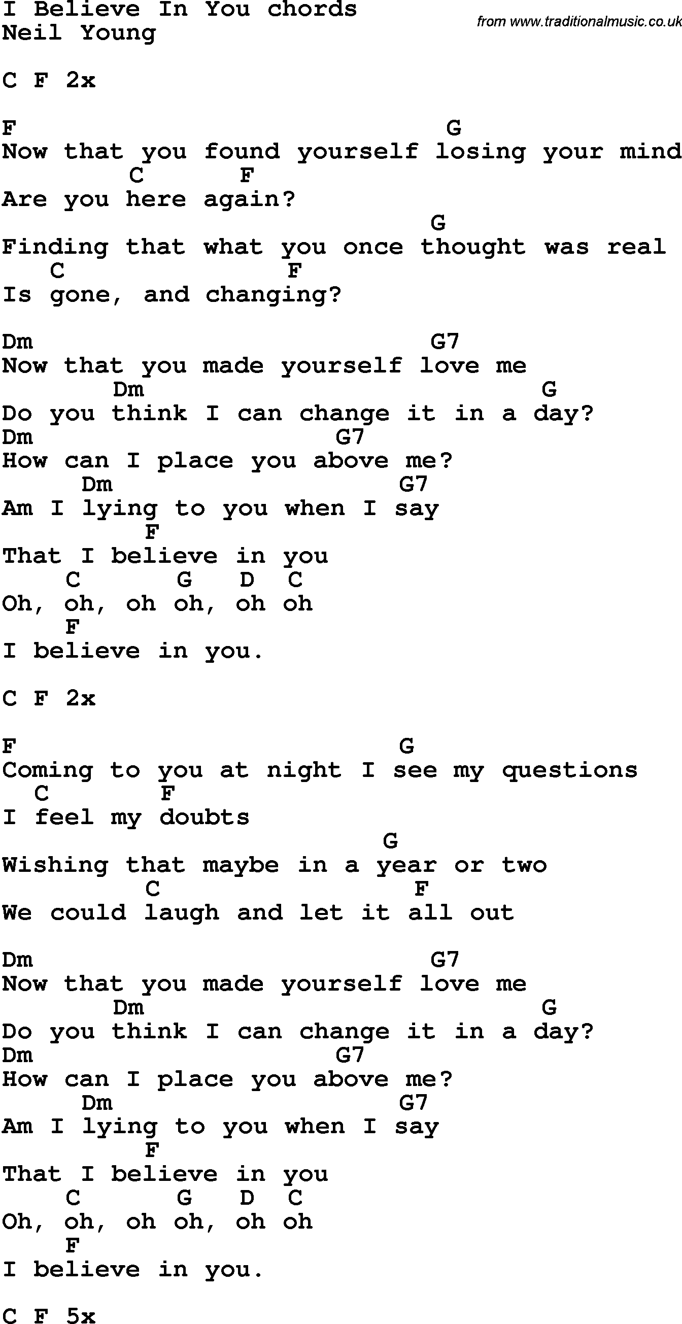 Song lyrics with guitar chords for i believe in you neil young song lyrics with guitar chords for i believe in you neil young hexwebz Images