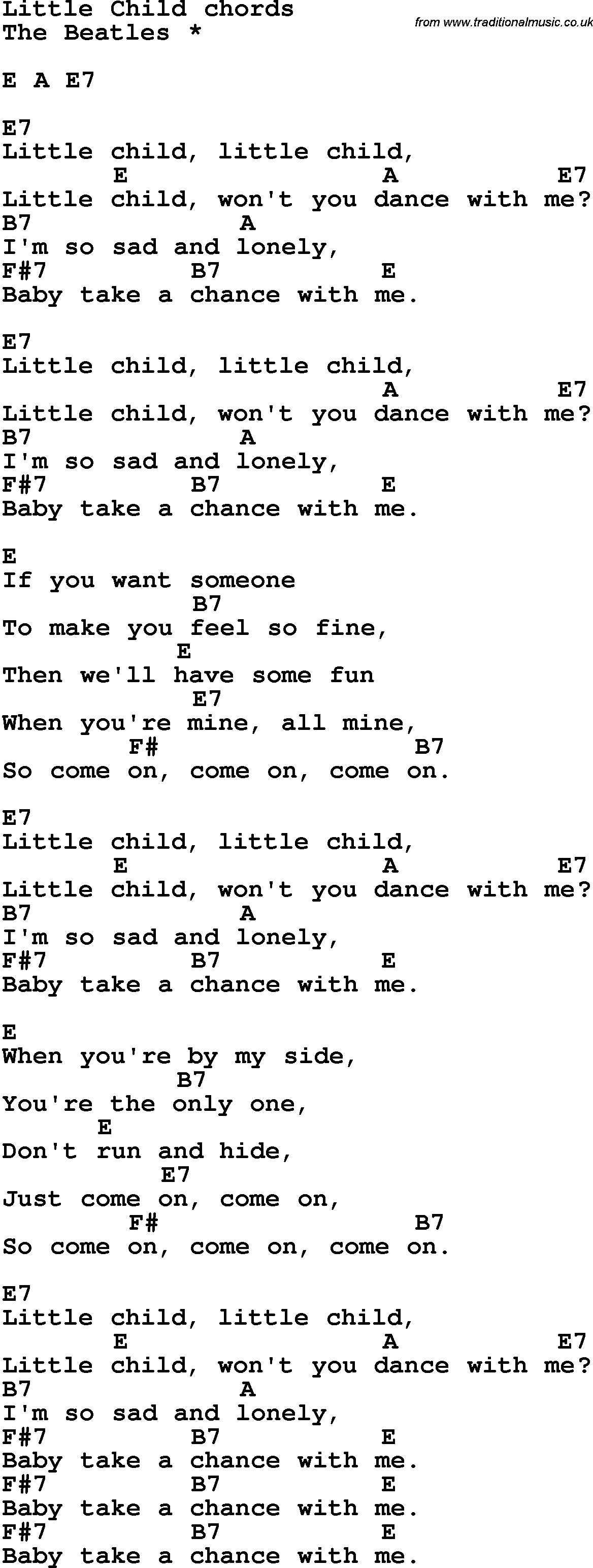 what child is this chords pdf