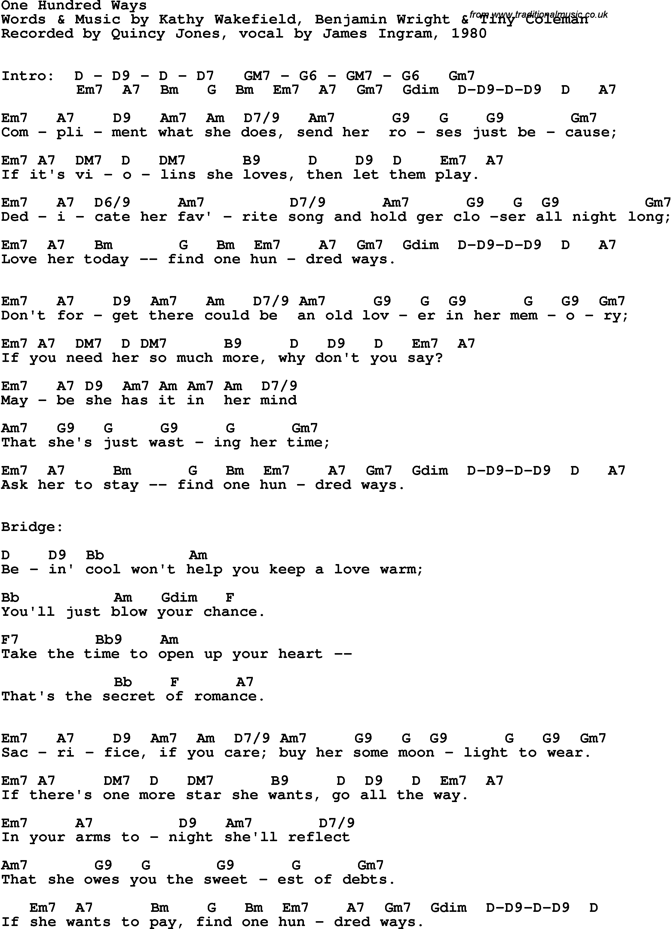 1980s Song Lyrics. Words and Lyrics from your favorite 80s ...