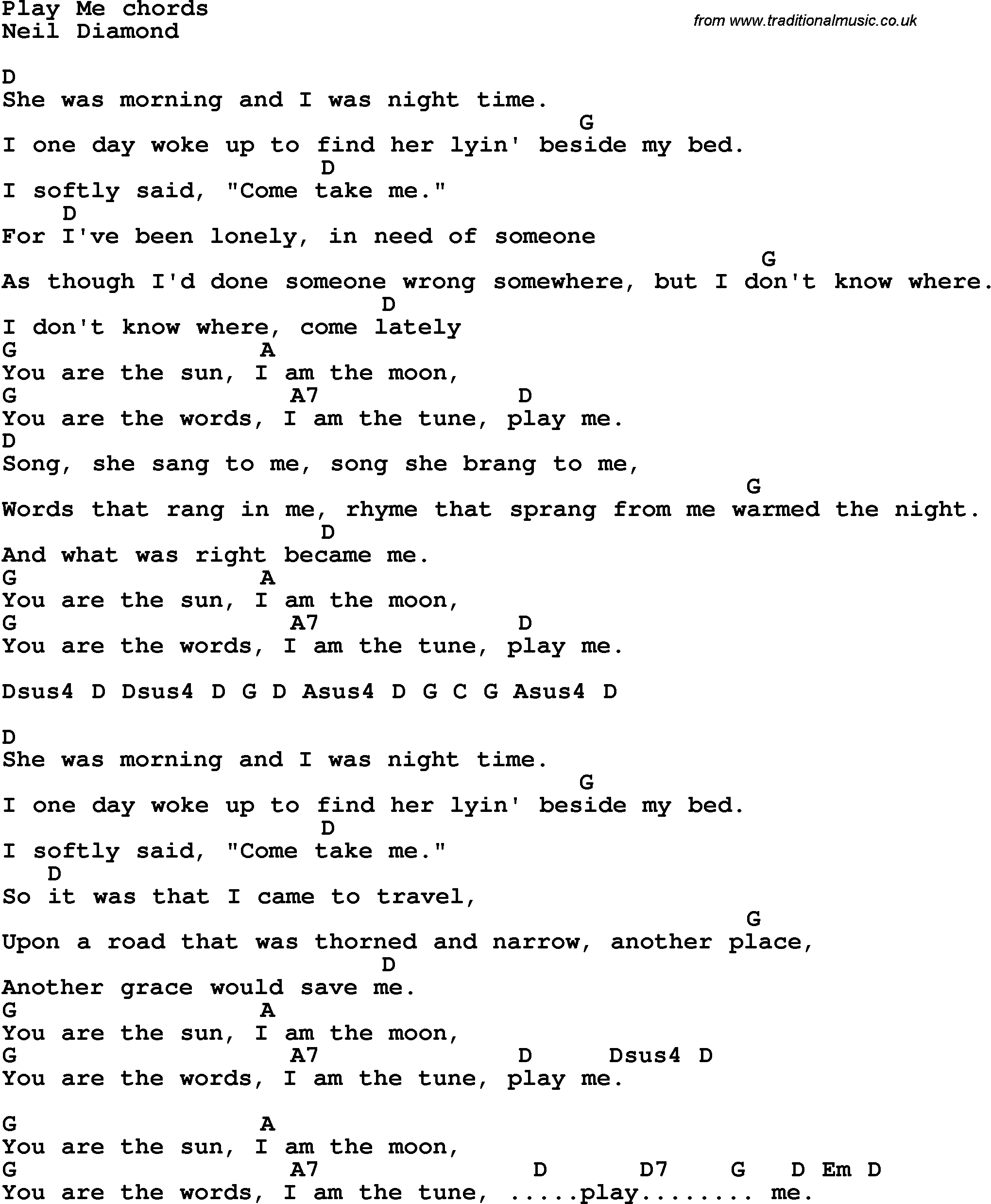 Song lyrics with guitar chords for play me song lyrics with guitar chords for play me hexwebz Image collections