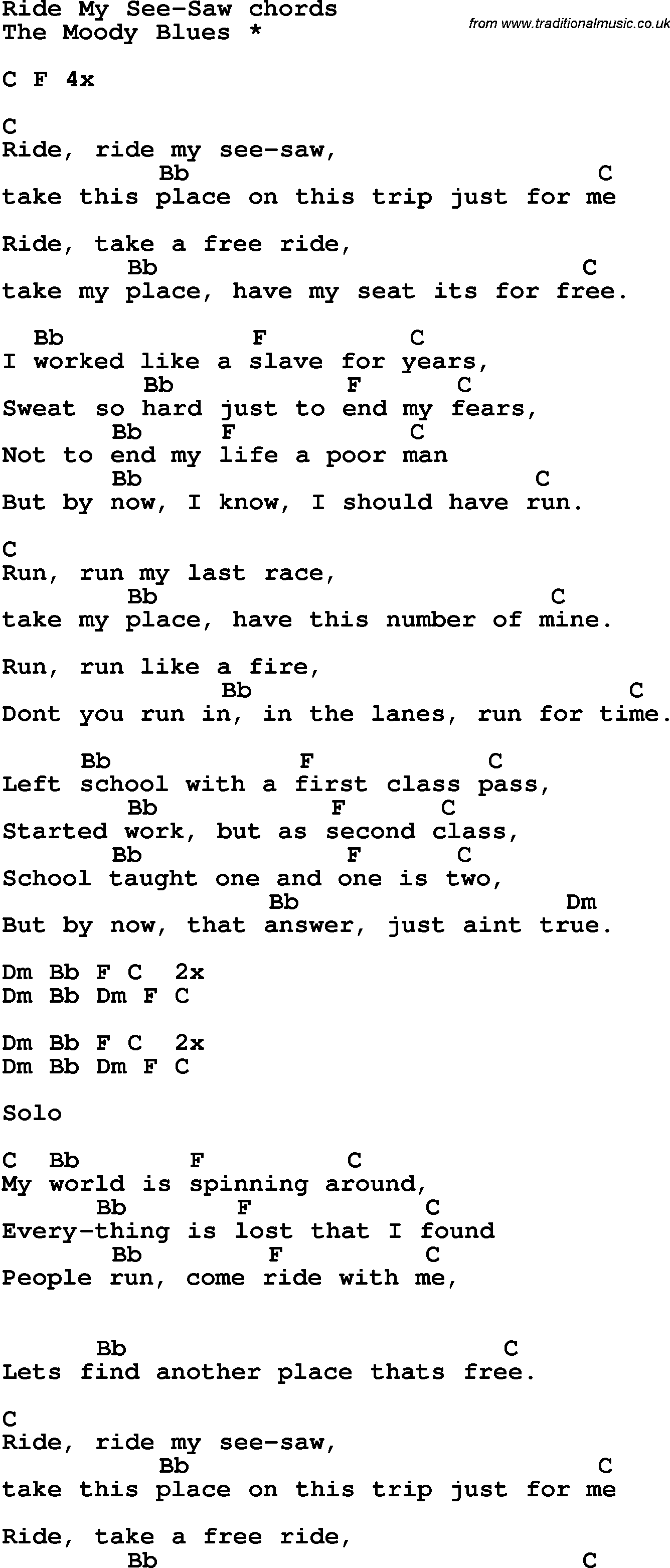 ride my see saw lyrics