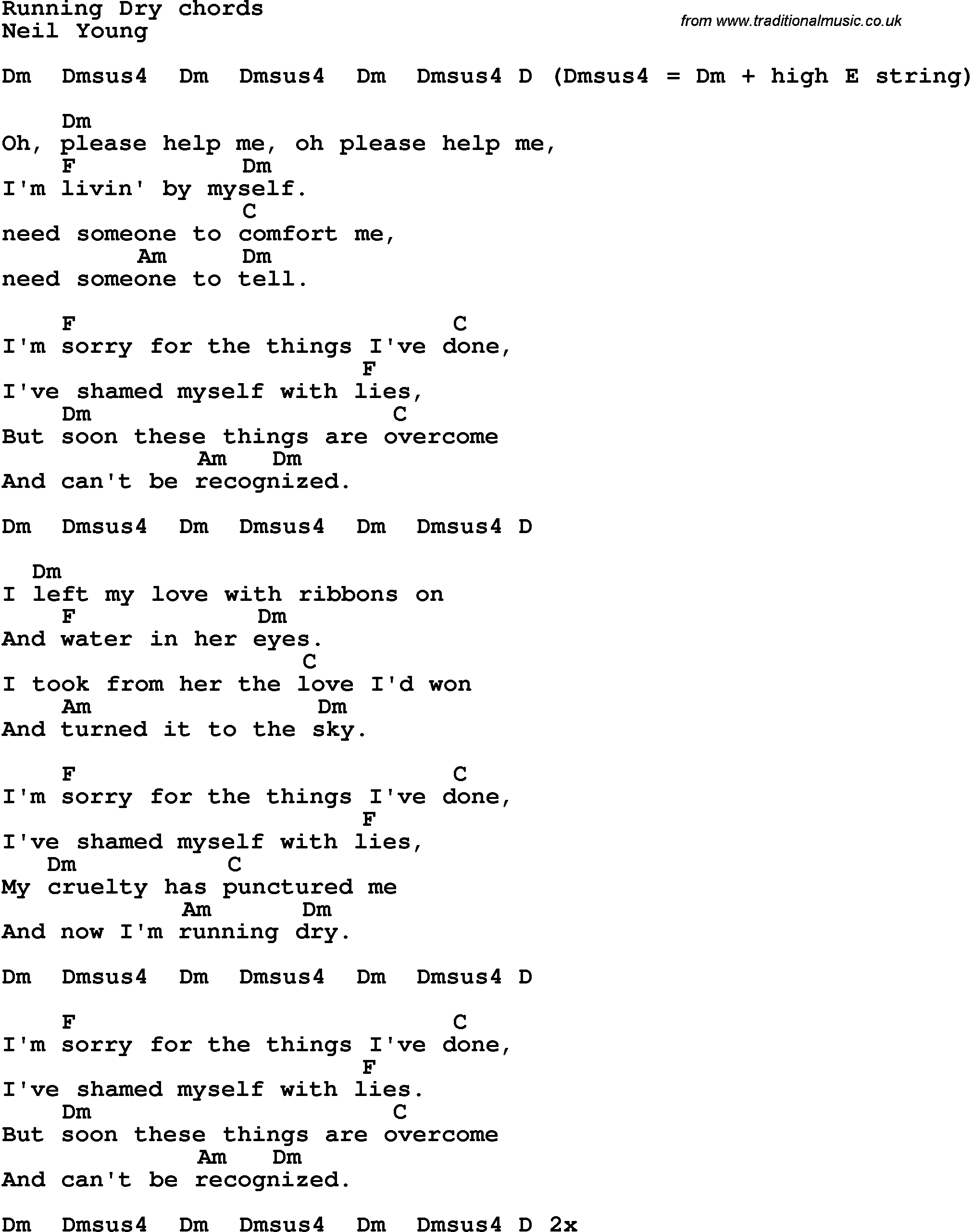 High and dry guitar chords image collections guitar chords examples song lyrics with guitar chords for running dry song lyrics with guitar chords for running dry hexwebz Images
