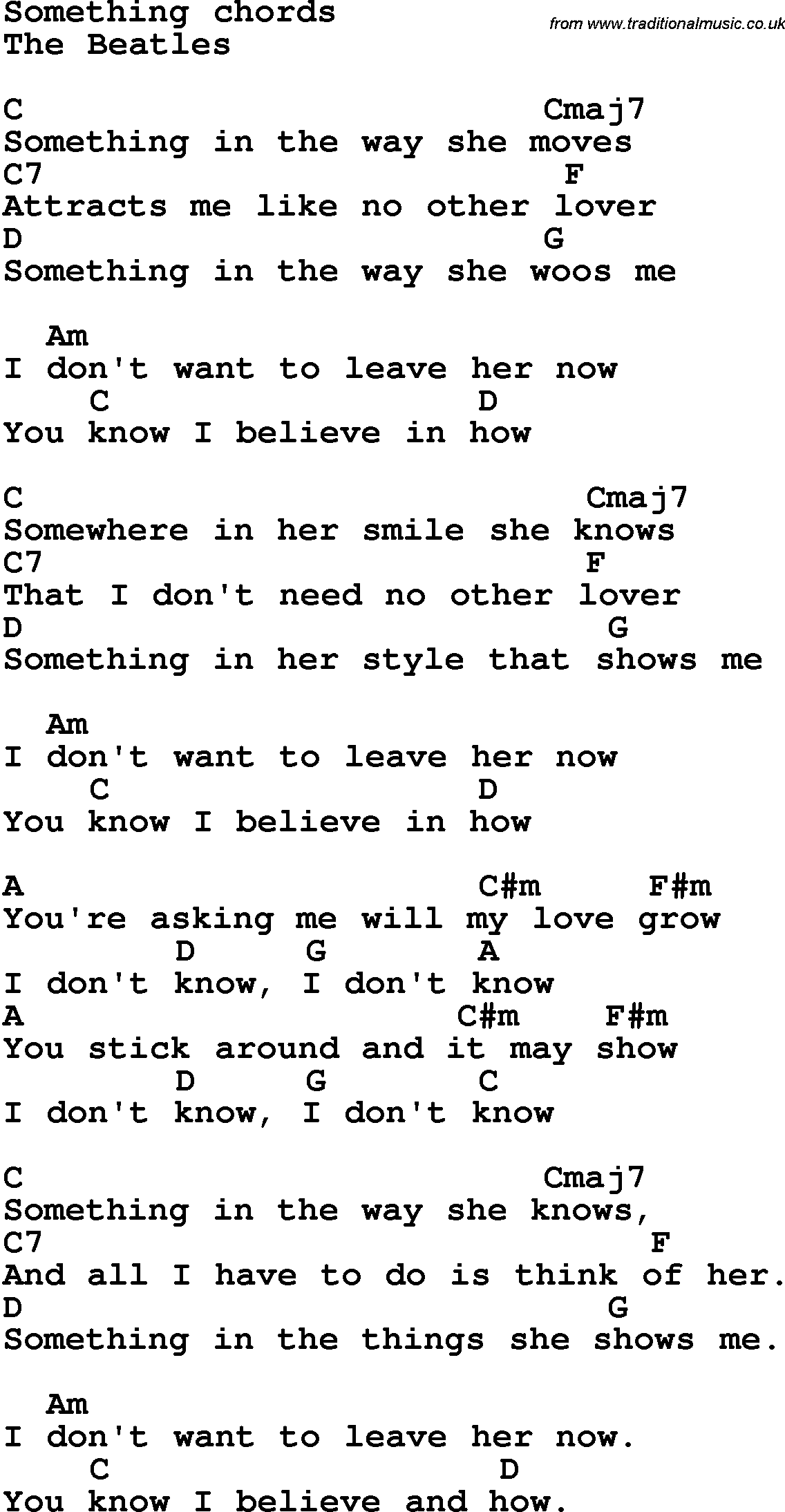 Song lyrics with guitar chords for something the beatles song lyrics with guitar chords for something the beatles hexwebz Images
