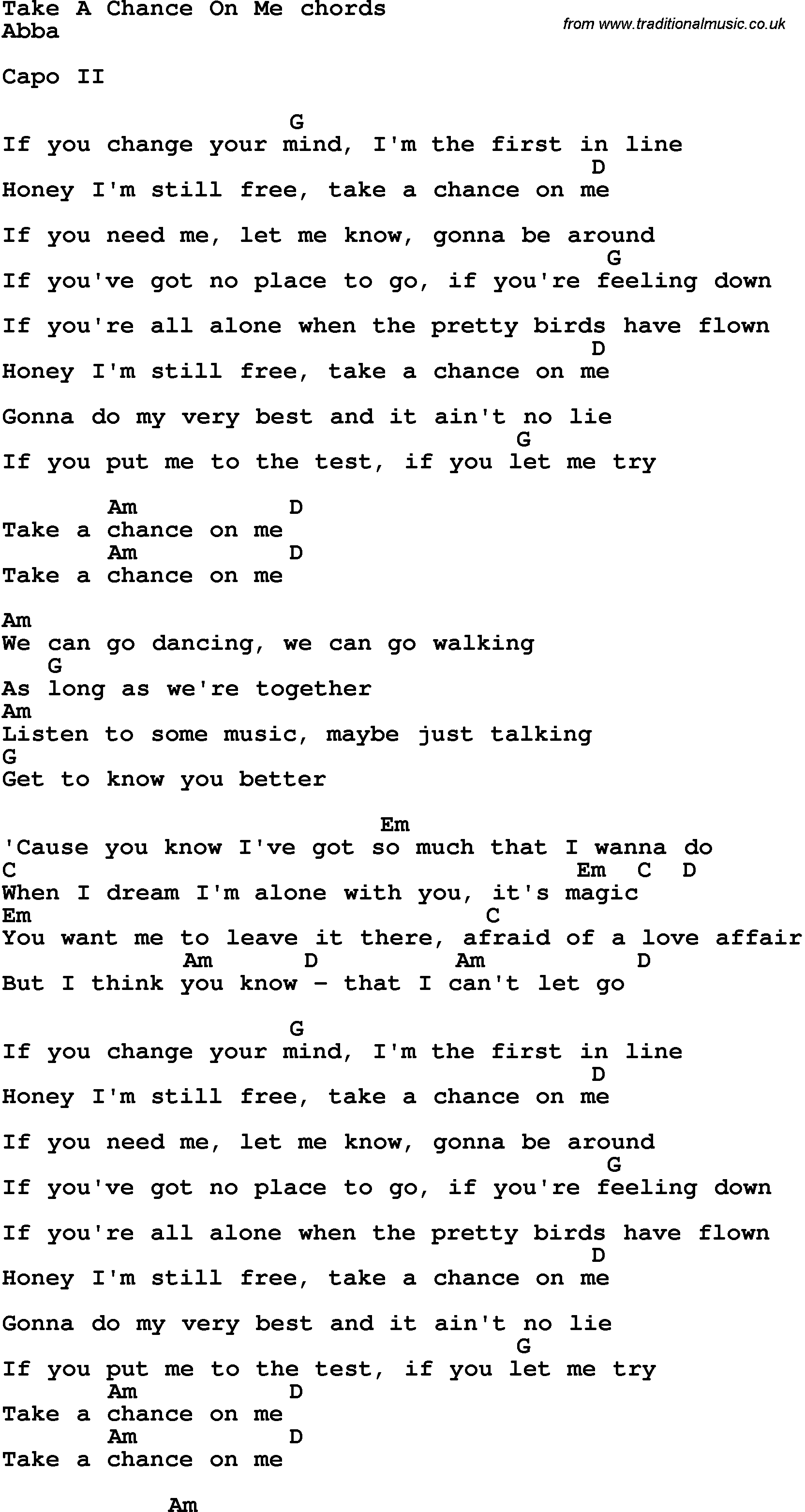 Take Me To The River Lyrics & Tabs by Desperation Band