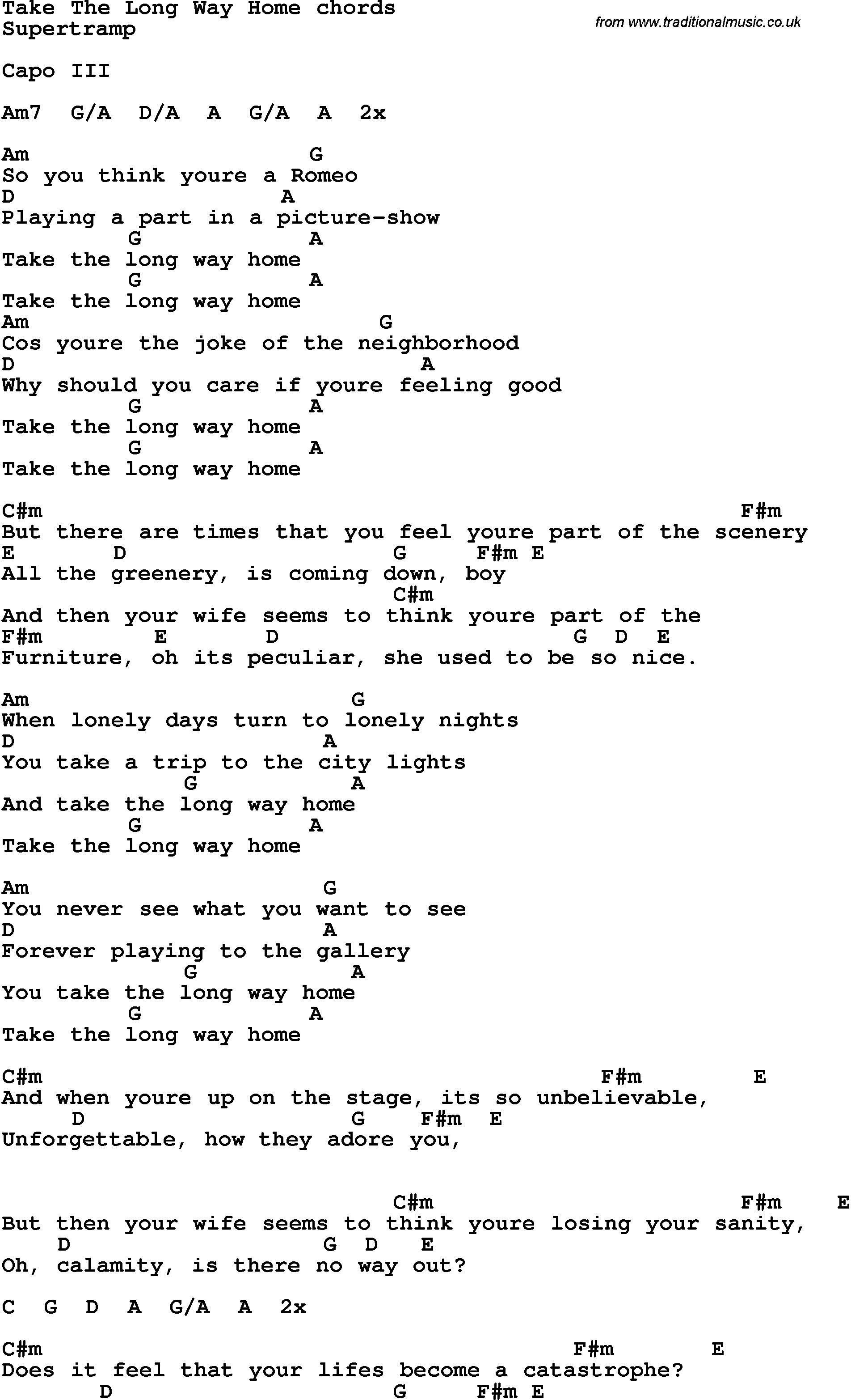 SEVENTH WONDER - LONG WAY HOME LYRICS