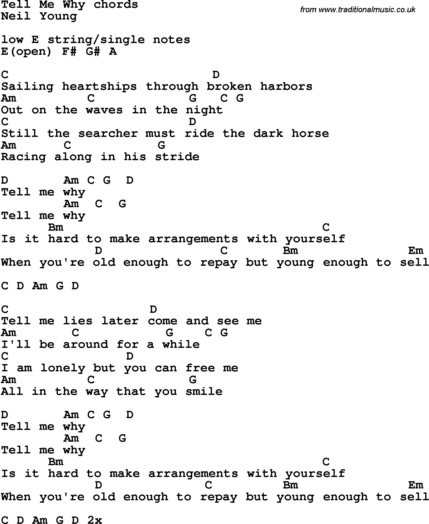 Neil Young Ukulele Chords@%^