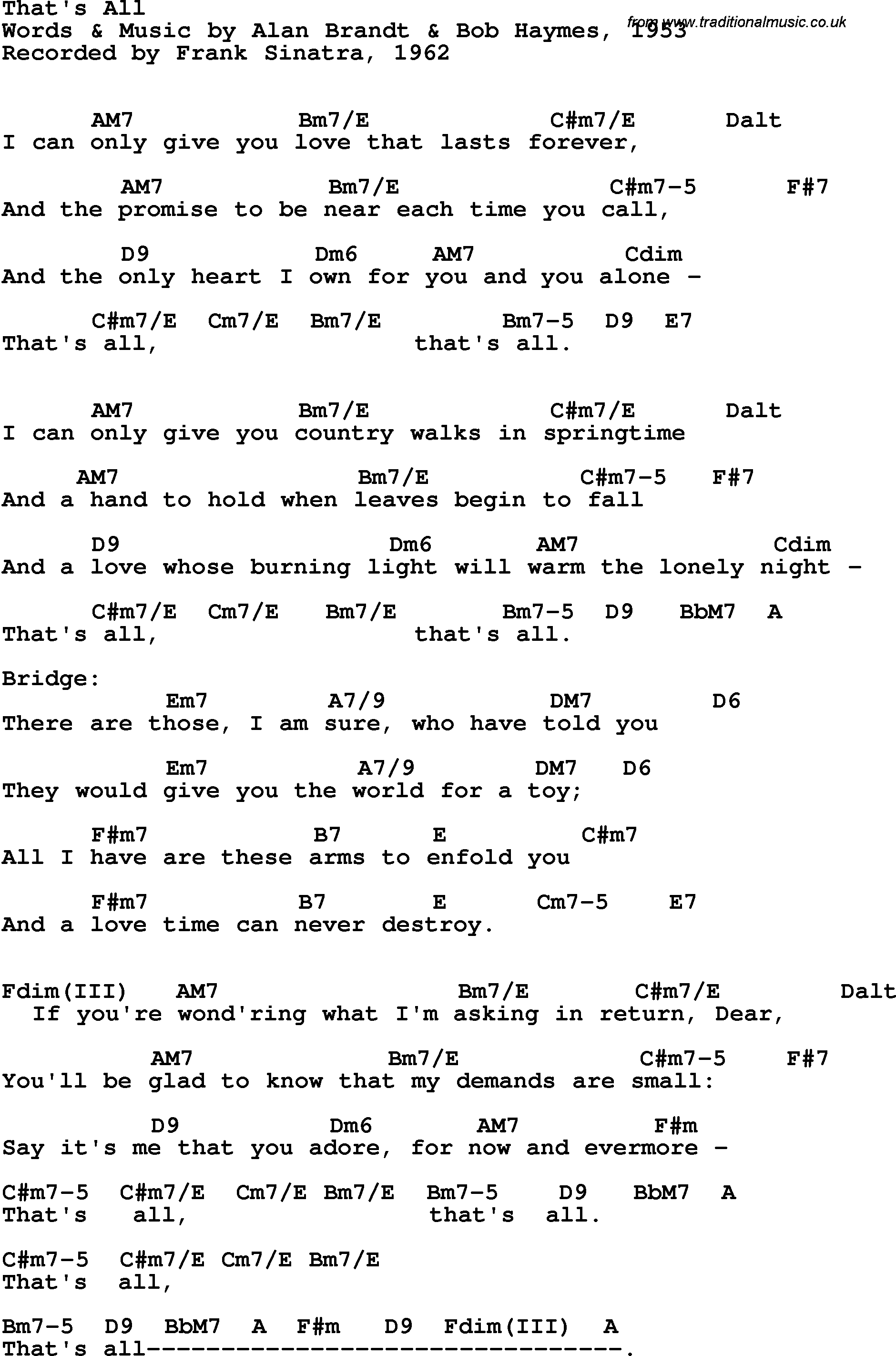 Song lyrics with guitar chords for thats all sarah vaughn 1958 song lyrics with guitar chords for thats all sarah vaughn 1958 hexwebz Images