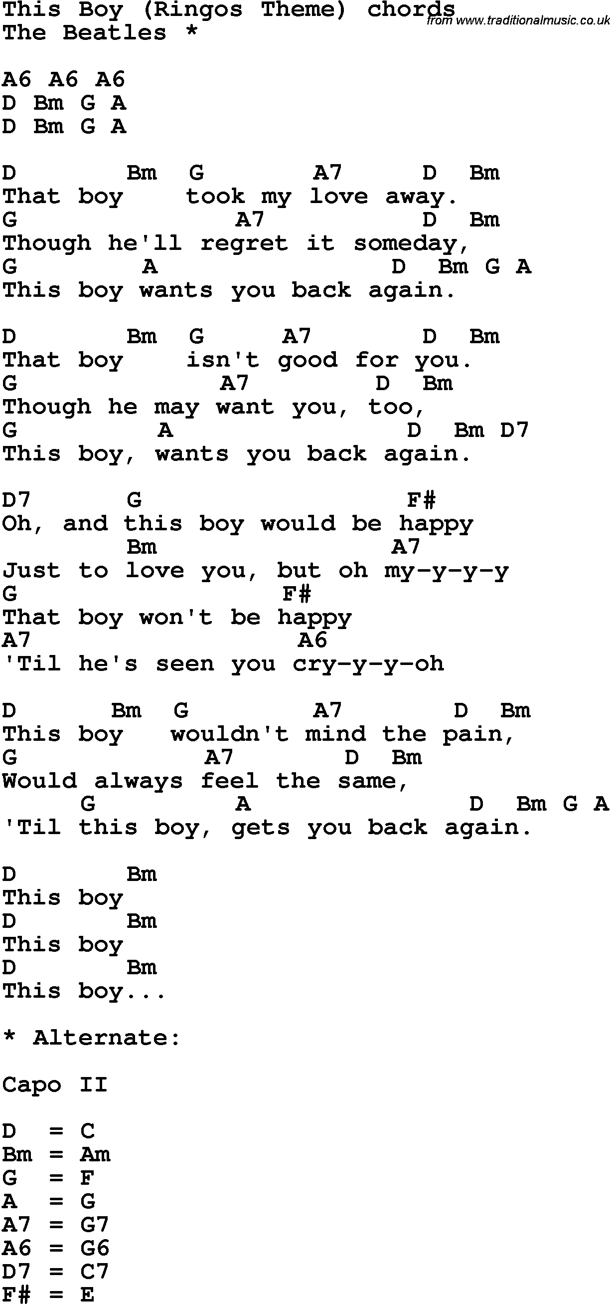 Song lyrics with guitar chords for this boy the beatles song lyrics with guitar chords for this boy the beatles hexwebz Images