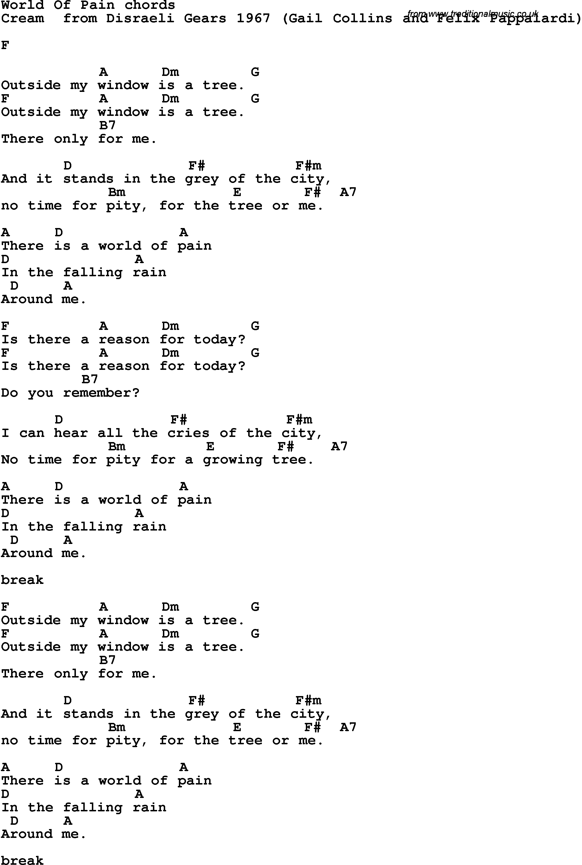 Rock songs guitar chords