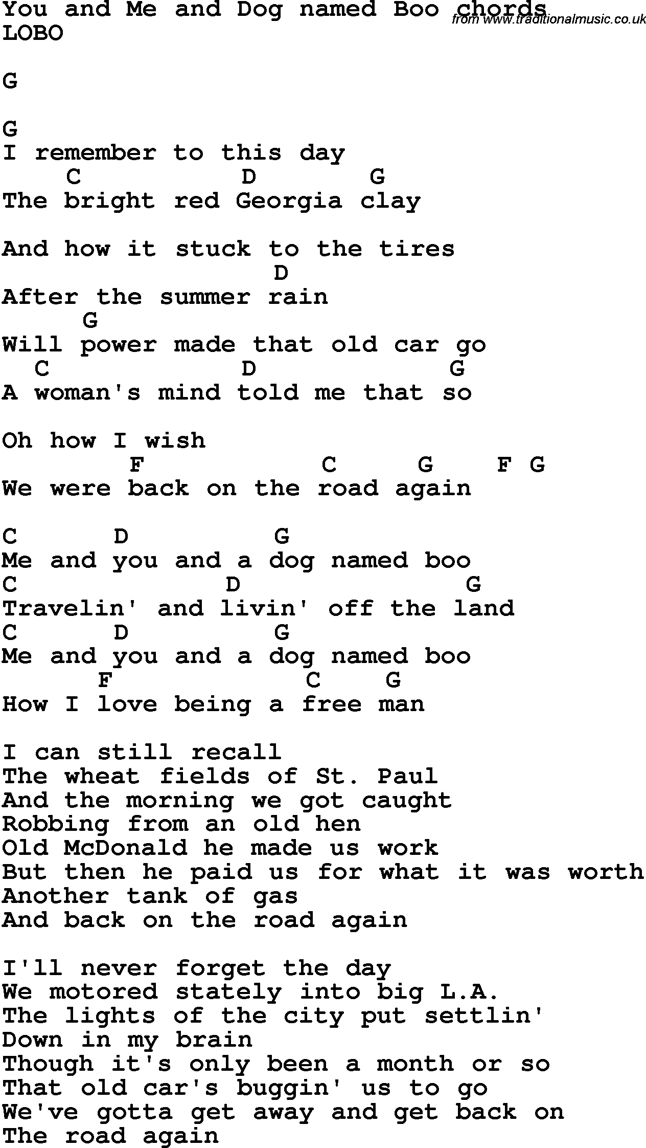 Song lyrics with guitar chords for you and me and dog named boo song lyrics with guitar chords for you and me and dog named boo hexwebz Images