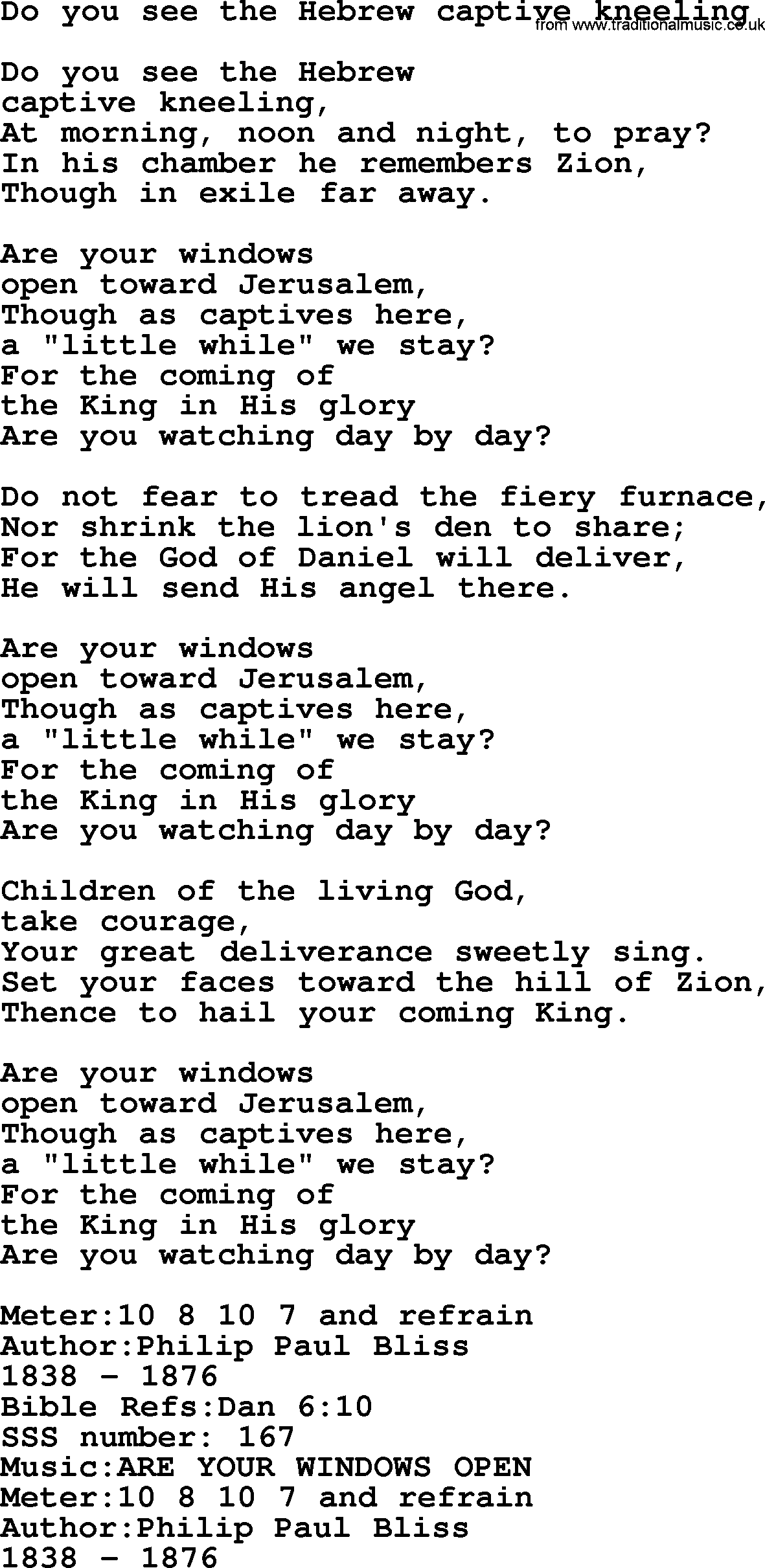Sacred Songs and Solos complete(words version), Song: Do You See The