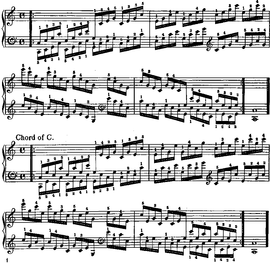 Scales And Arpeggios For Keyboard With Exercises, page 0137