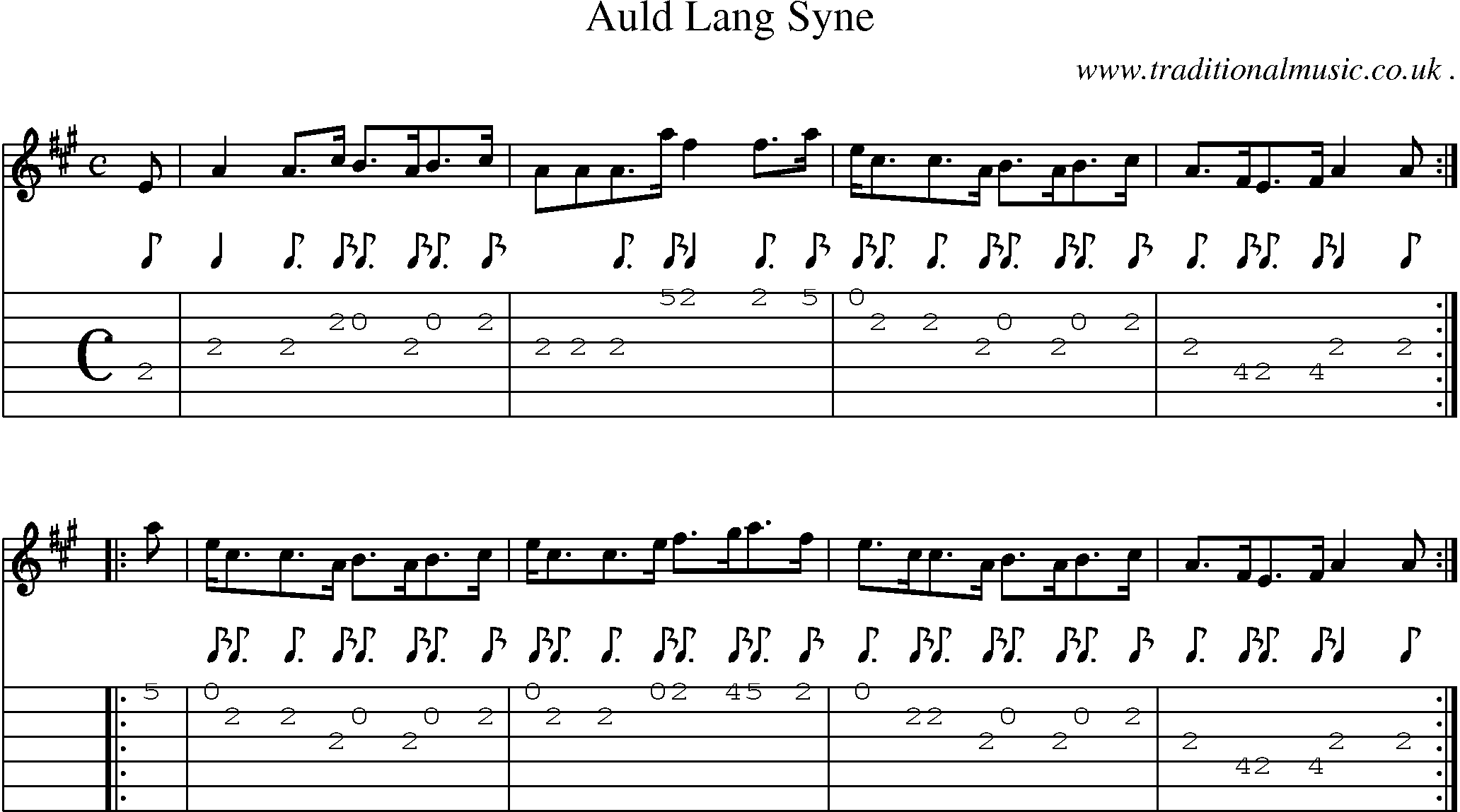 Guitar Lesson: Auld Lang Syne by Jim Deeming - JamPlay.com