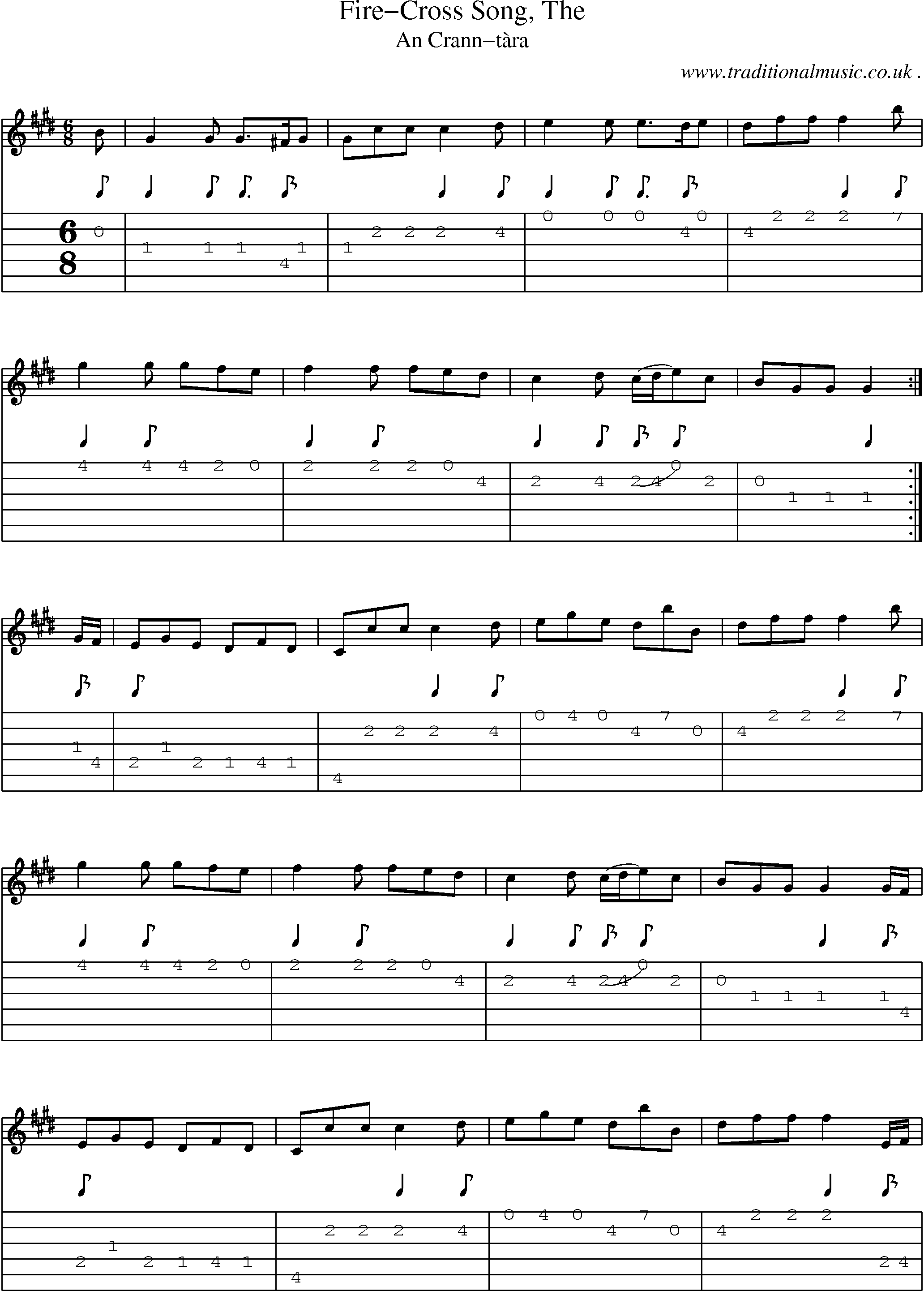 Scottish Tune Sheetmusic Midi Mp3 Guitar Chords Tabs Fire