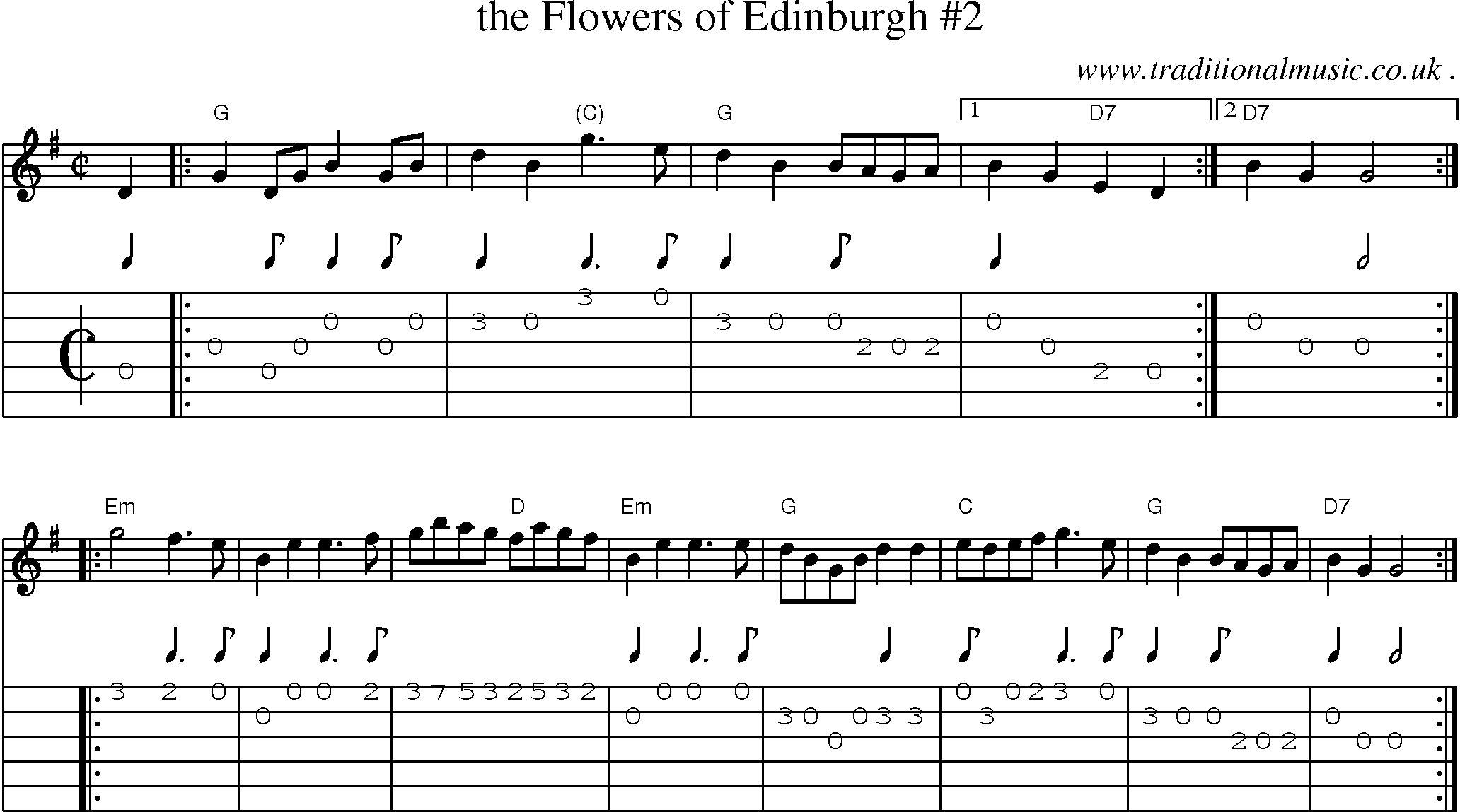 Another version of Flower Scotland Key of D Major Frompo