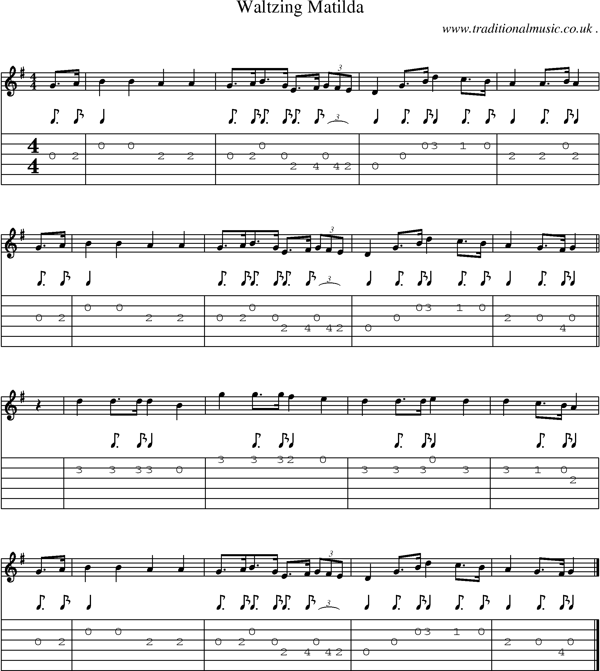 Scottish Tune Sheetmusic Midi Mp3 Guitar Chords Tabs Waltzing