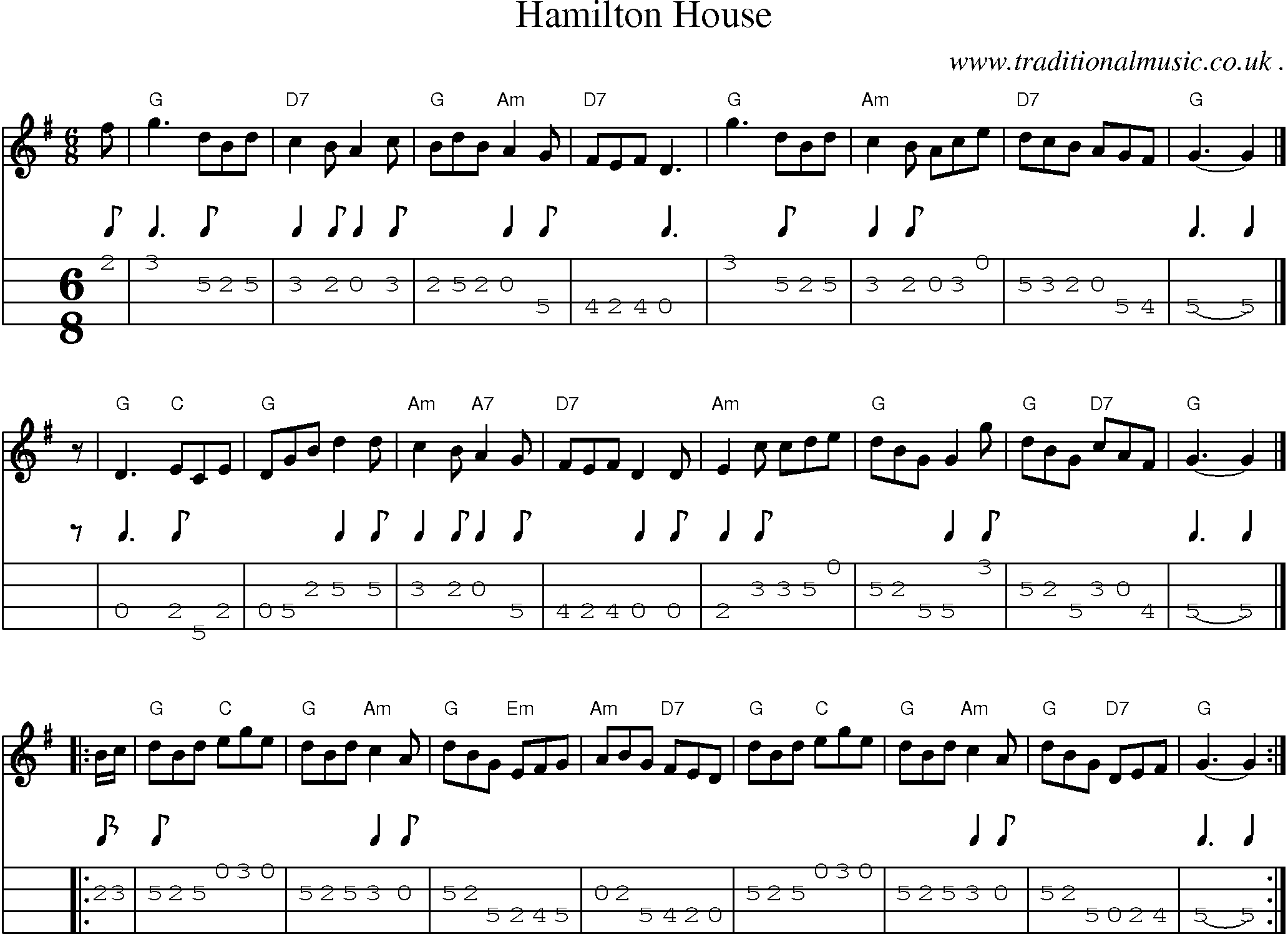 master of the house sheet music pdf