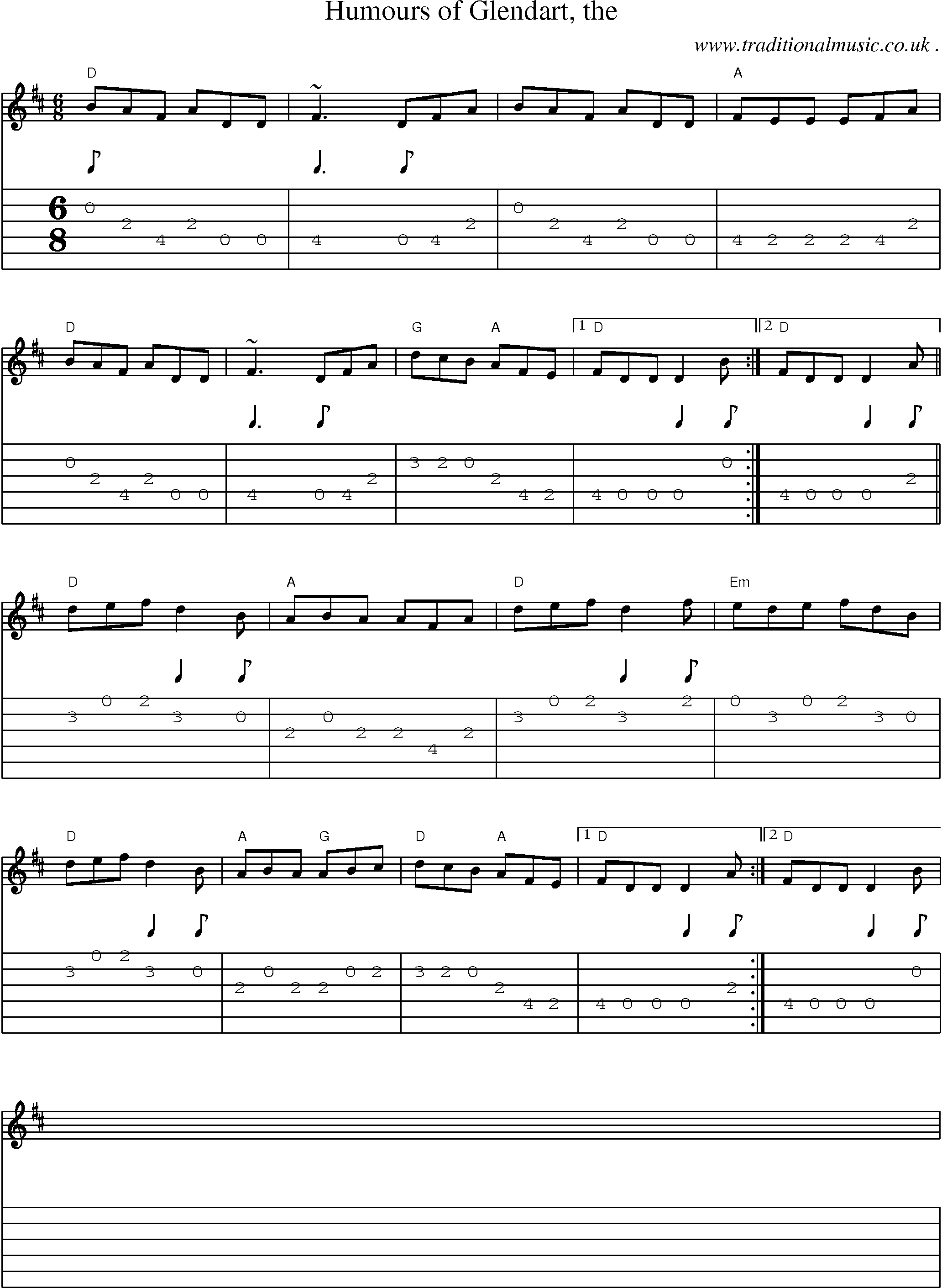 Common Session Tunes Scores And Tabs For Guitar Humours Of