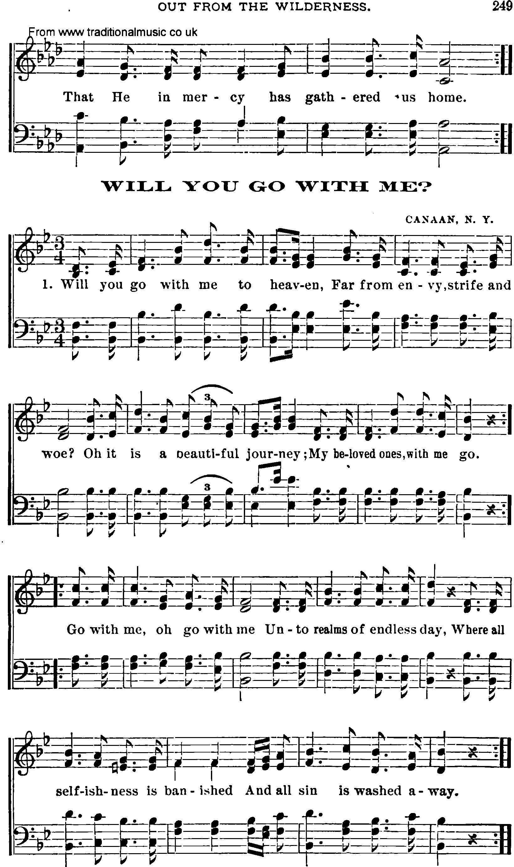 Shaker Music Song Will You Go With Me Sheet Music And Pdf