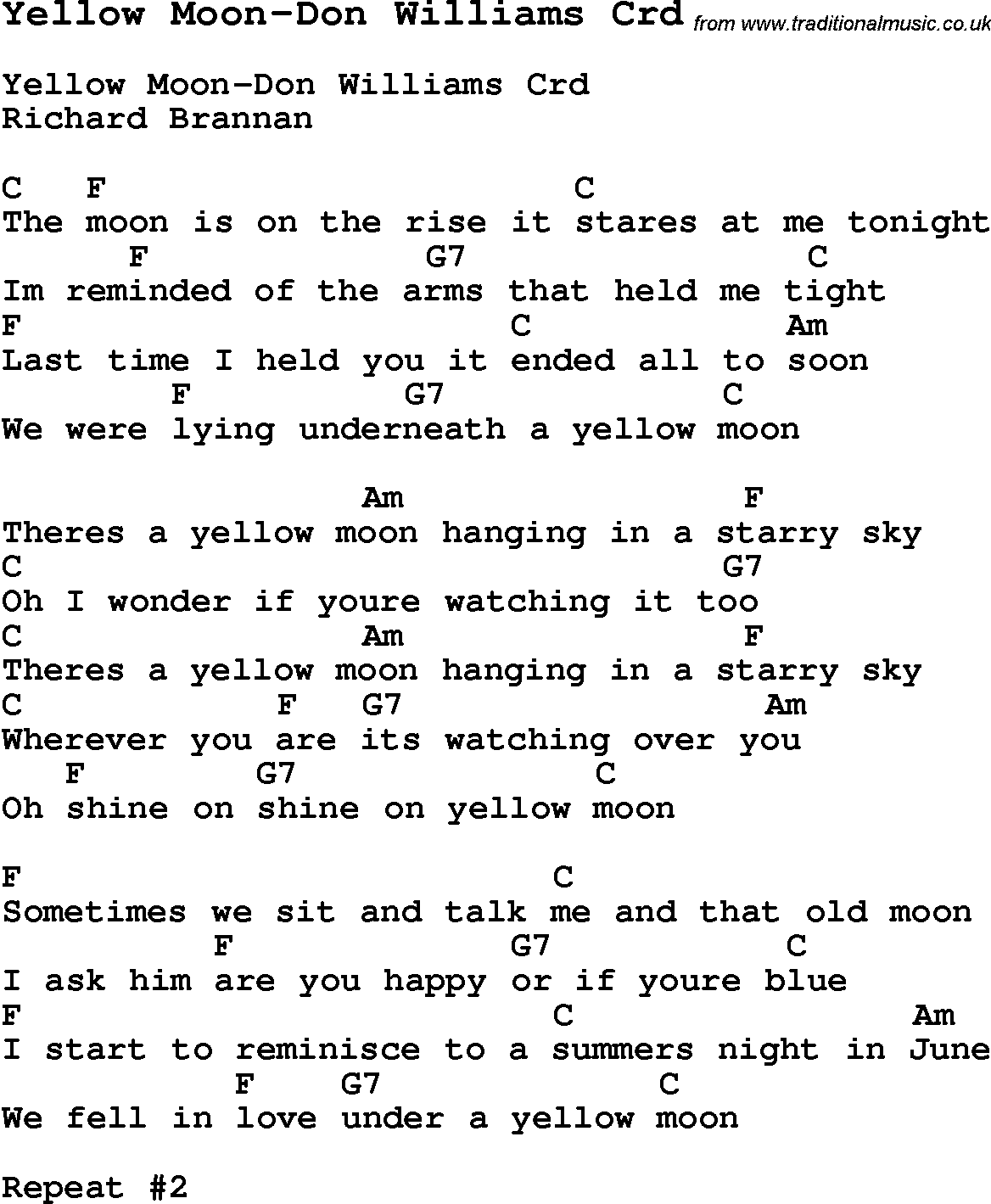 Skiffle lyrics for yellow moon don williams with chords for skiffle song lyrics for yellow moon don williams with chords for mandolin ukulele hexwebz Image collections