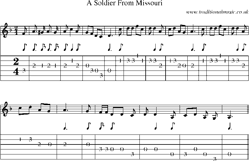 soldier of fortune tab pdf