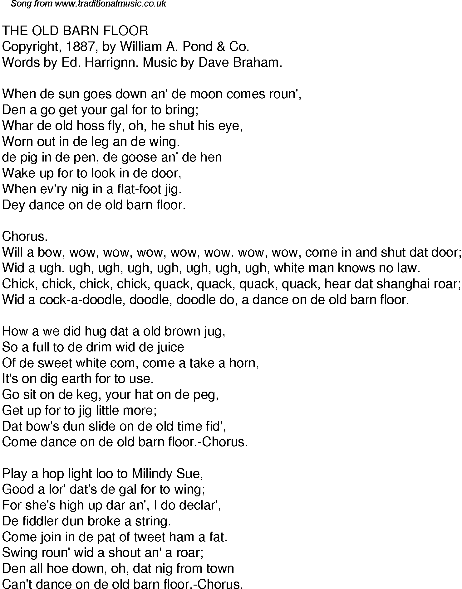 Old time song lyrics for 32 the old barn floor for 1234 get on the dance floor songs download