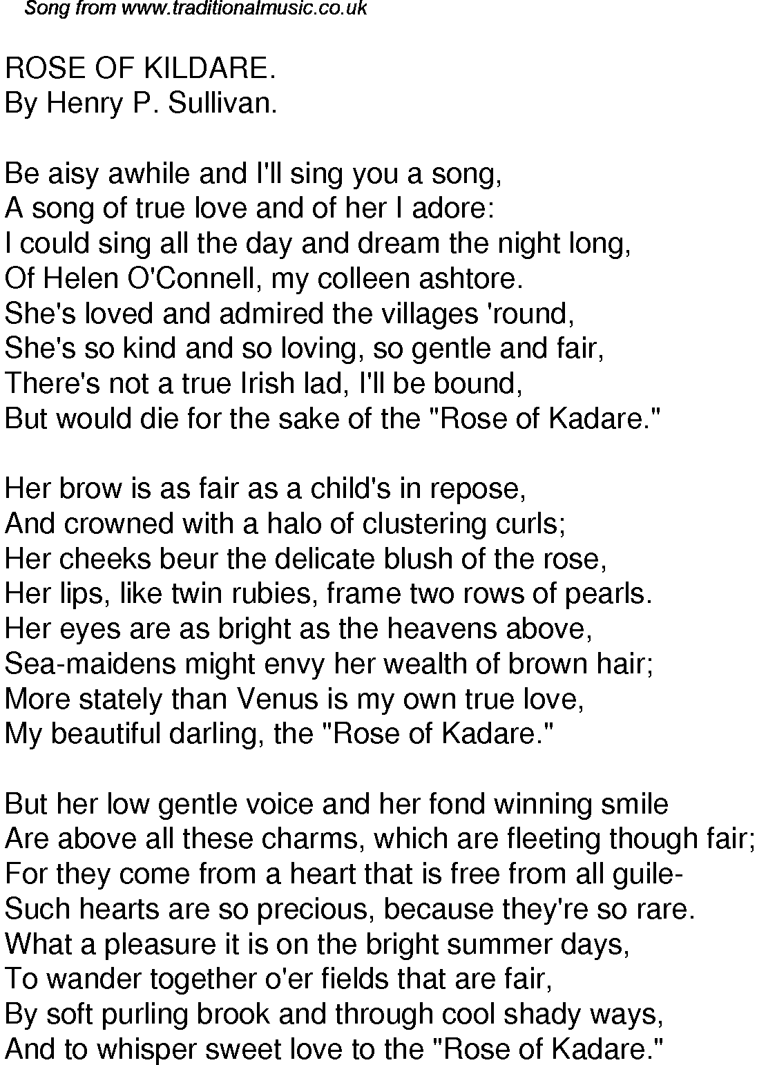Lyrics to two of a kind