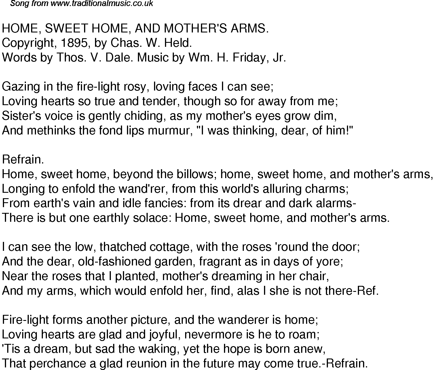 Lady of the Sunshine – Home Sweet Home Lyrics - Genius