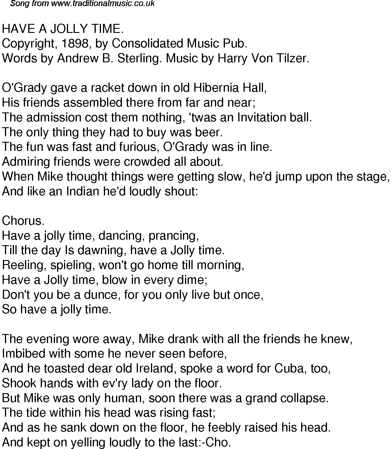 Old time song lyrics for 60 have a jolly time download music lyrics as png graphic file stopboris Gallery