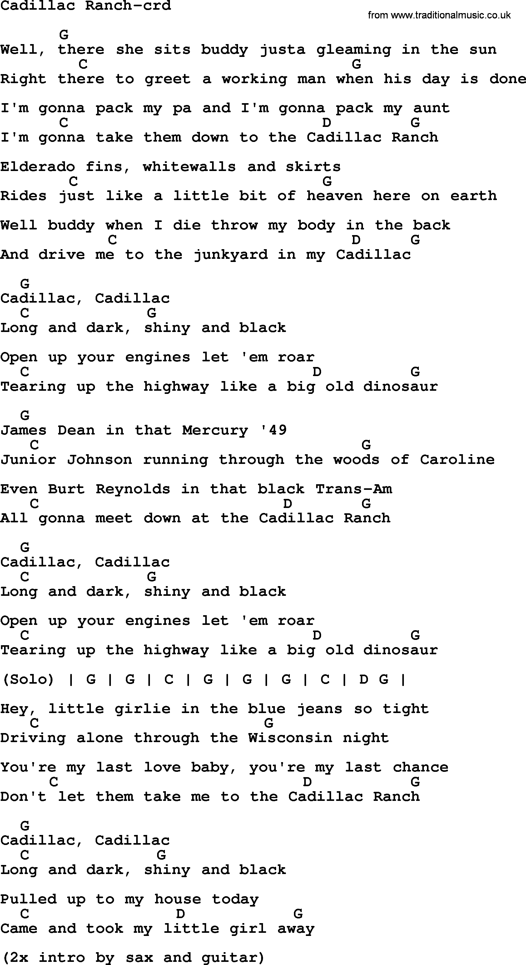cadillac ranch song lyrics 2016 car release date. Cars Review. Best American Auto & Cars Review