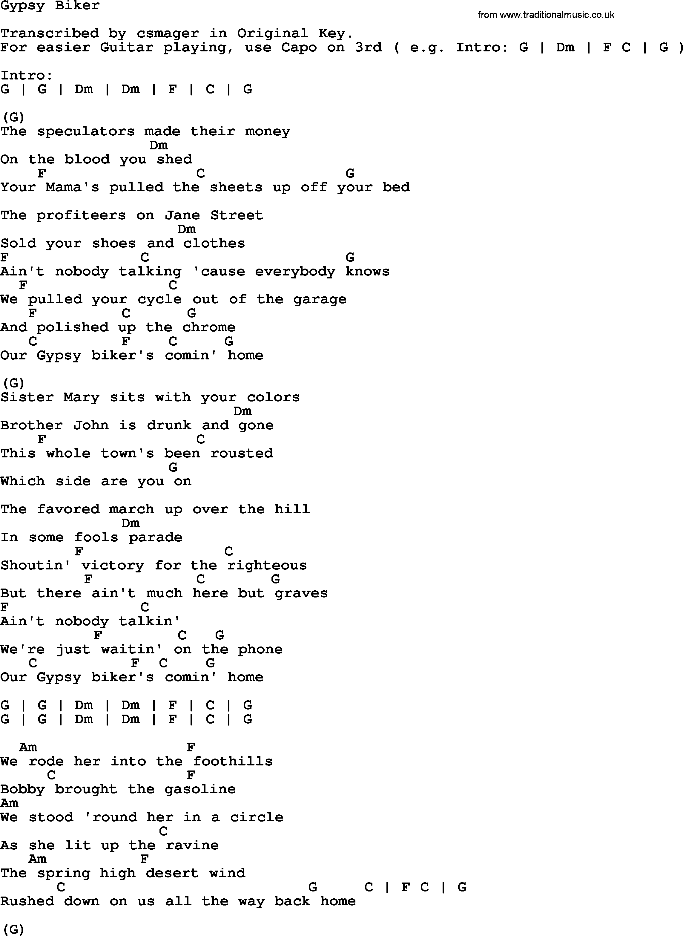 Lord of the sad and lonely lyrics