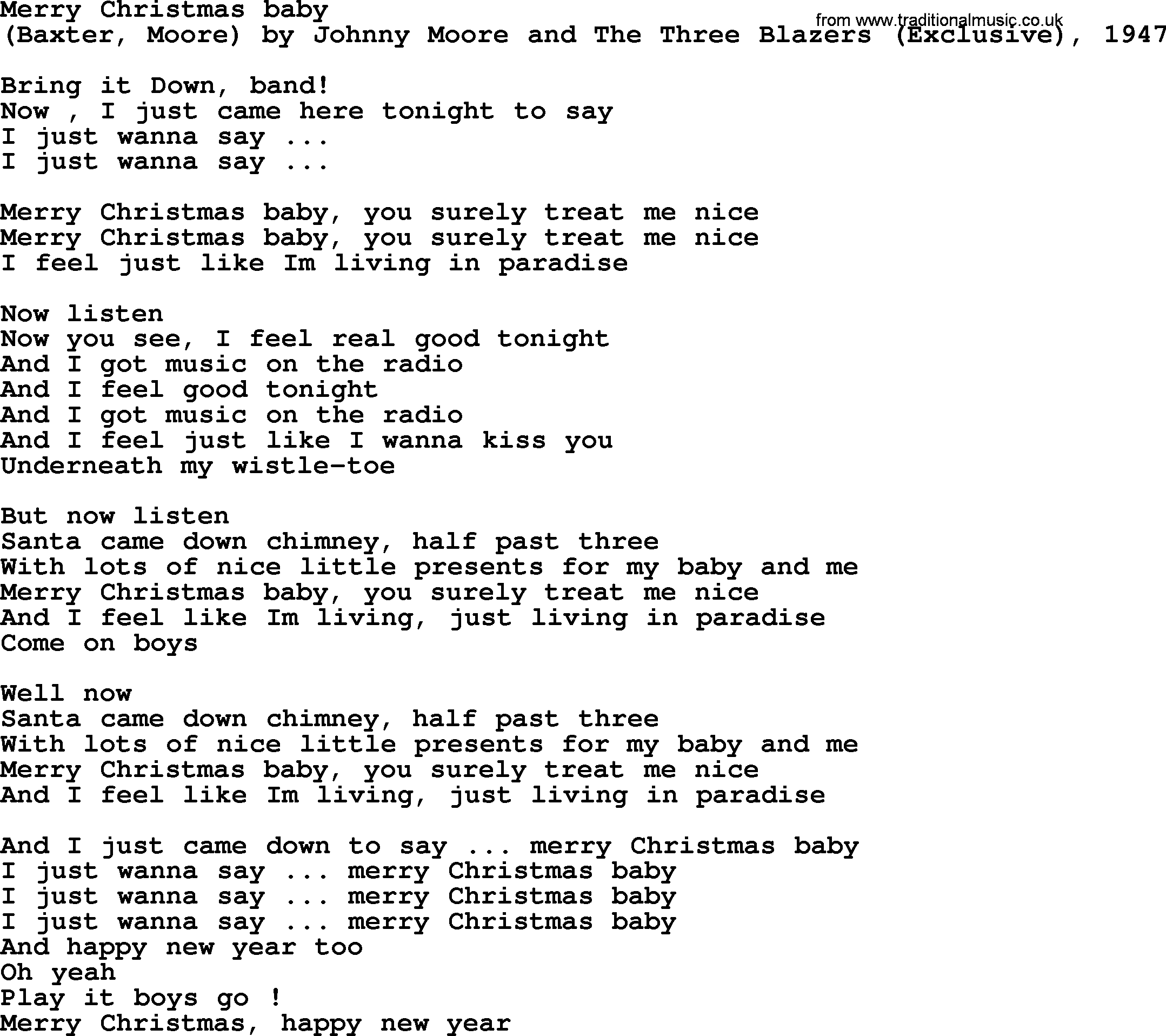 just like christmas lyrics