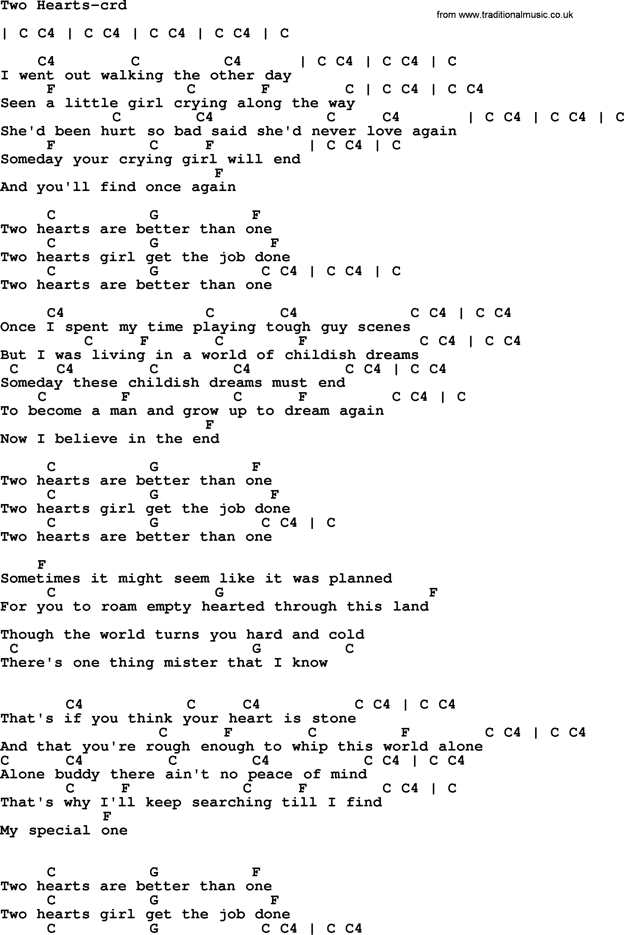 Bruce Springsteen Song Two Hearts Lyrics And Chords