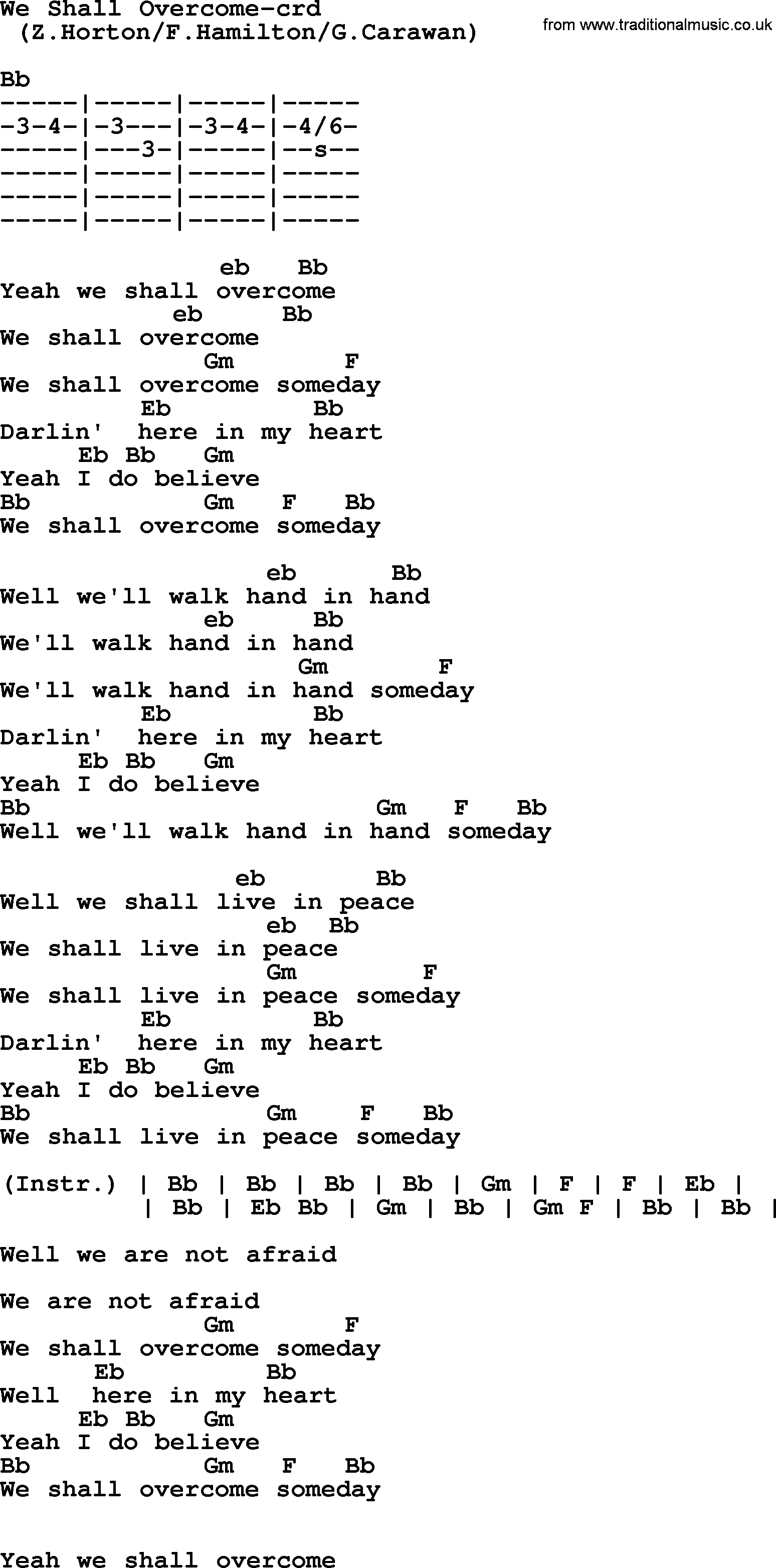 Springsteen song we shall overcome lyrics and chords bruce springsteen song we shall overcome lyrics and chords hexwebz Images