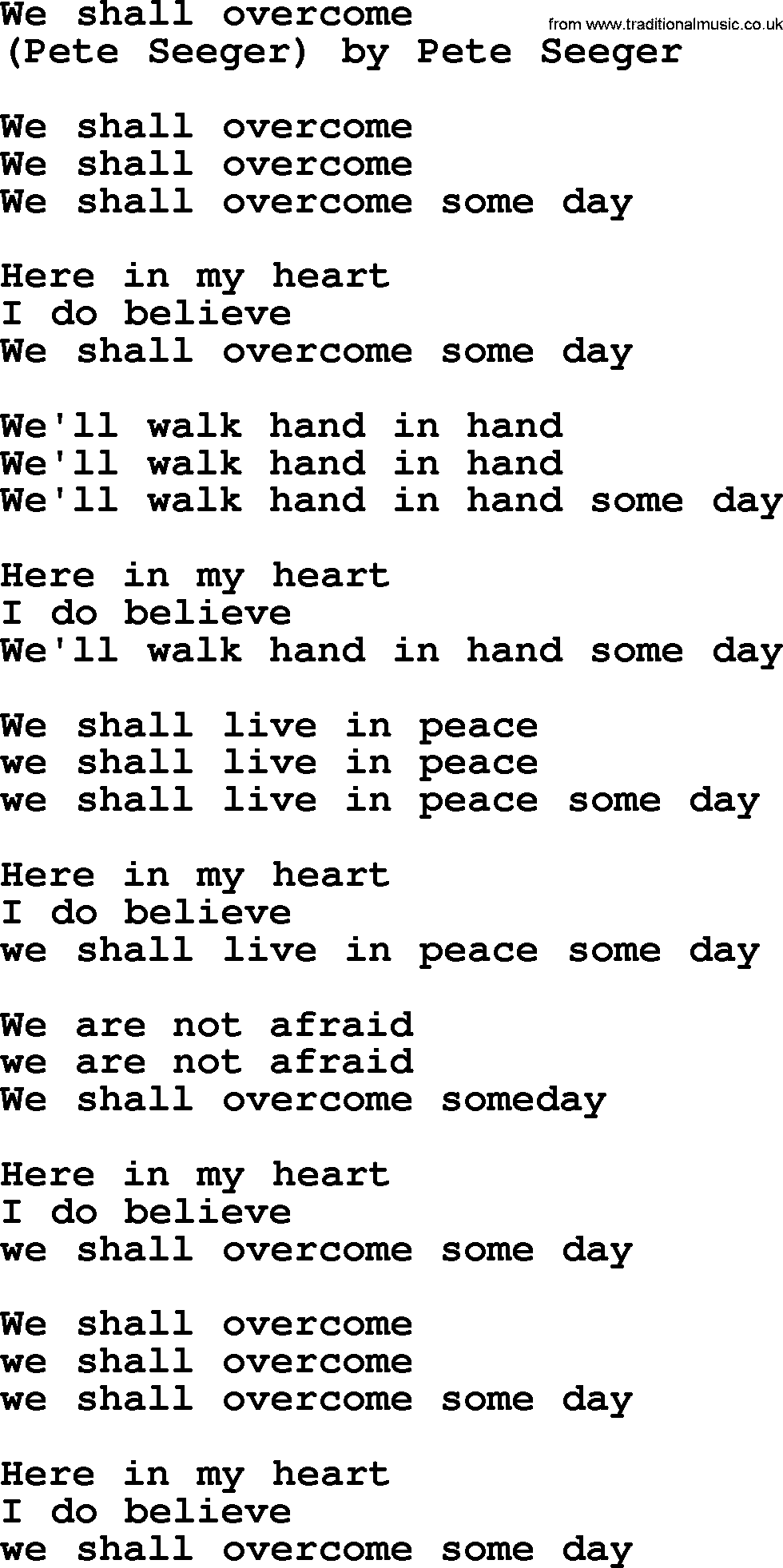 One Woman Song
