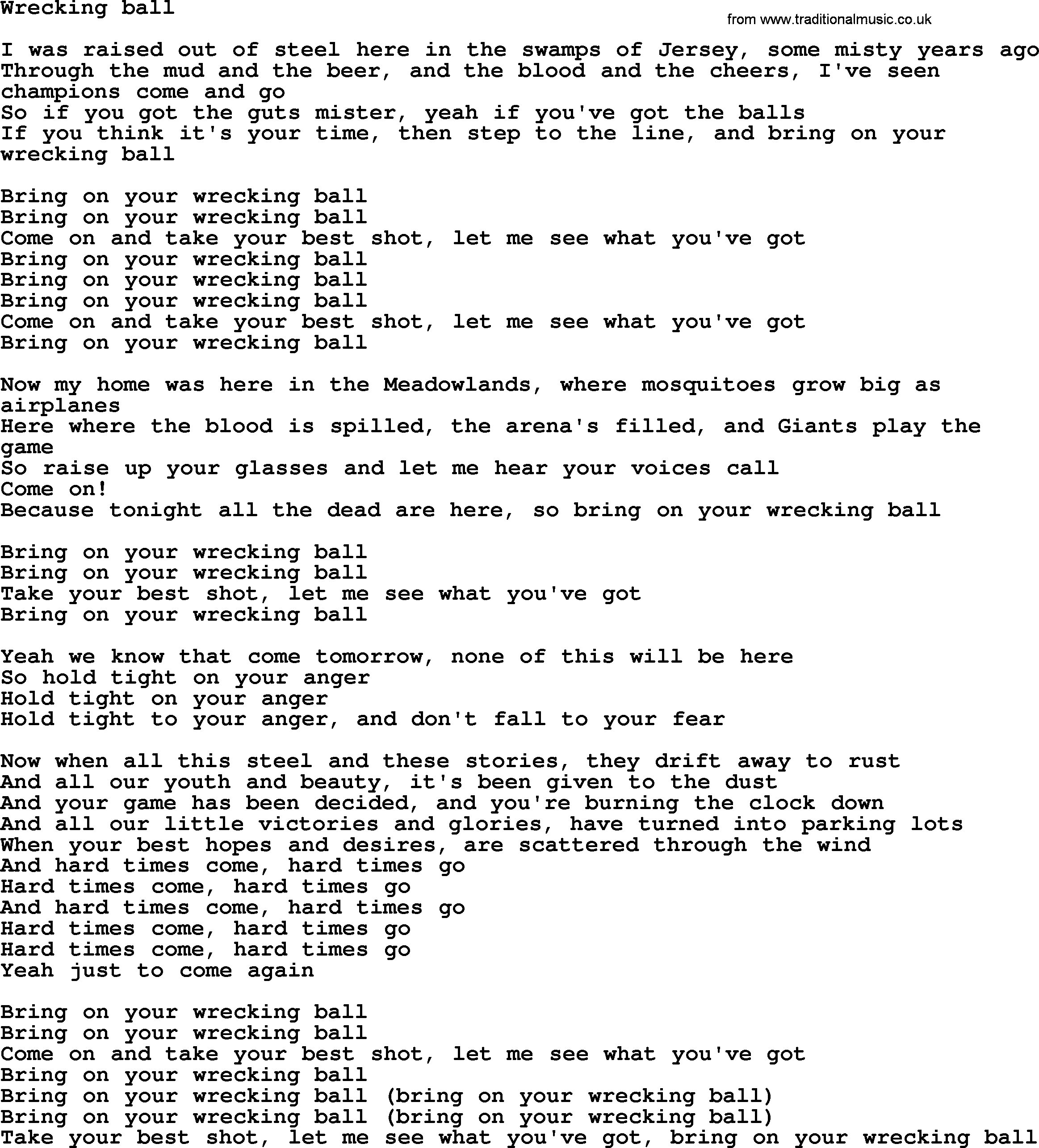 Songtext von Miley Cyrus - Wrecking Ball Lyrics